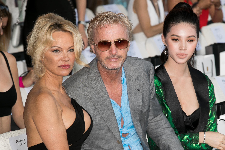 Eddie Irvine spends time with Pamela Anderson in Monaco