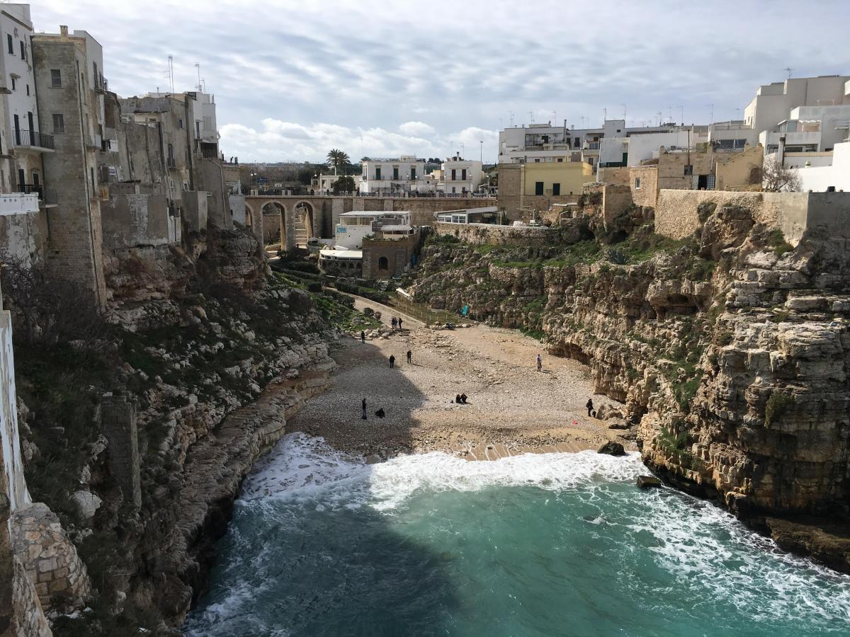 Puglia is like a fairytale with seaside cliffs and stunning blue water