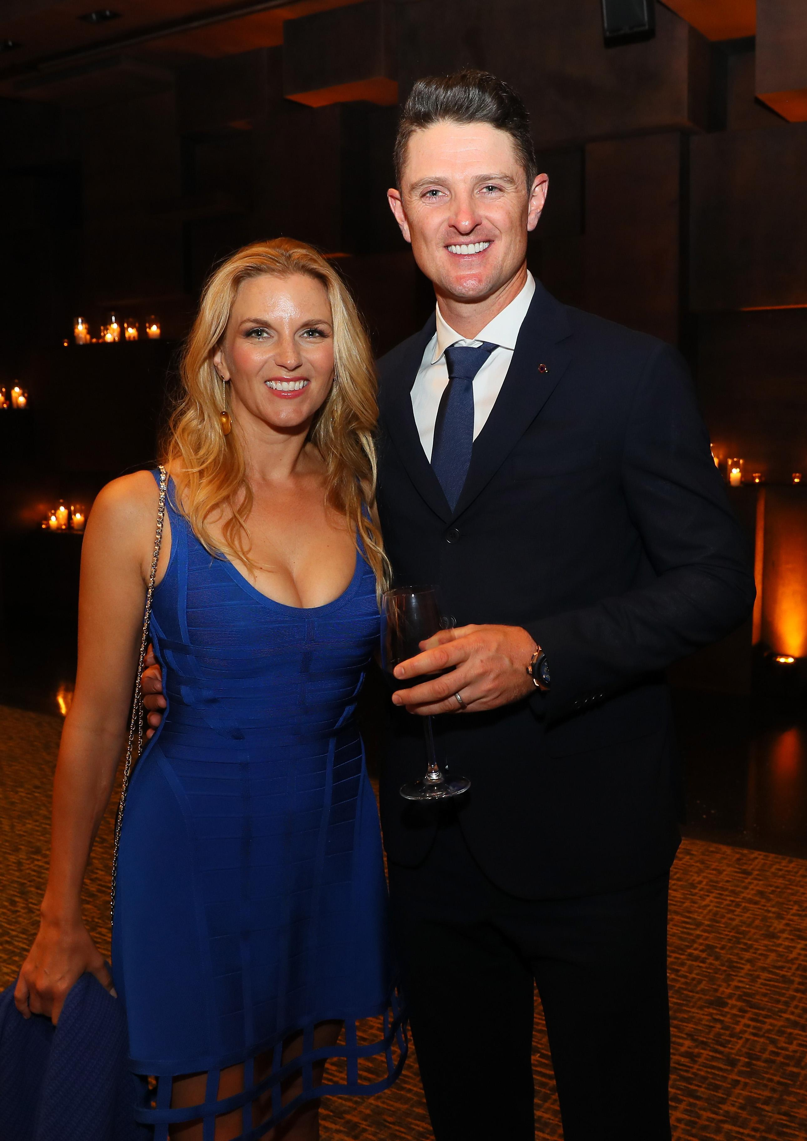 Justin Rose and his wife Rose at the 2016 Ryder Cup