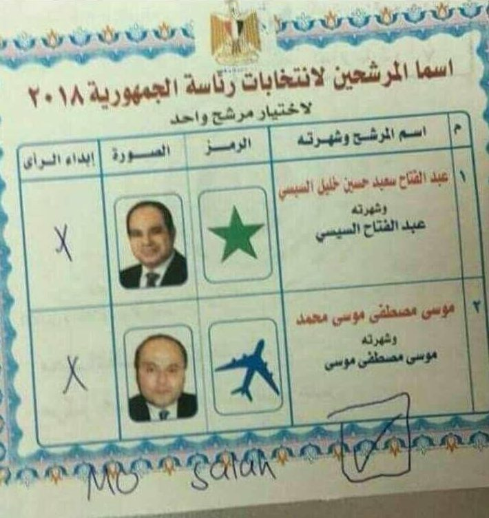 This image appears to show one of the spoiled ballot papers