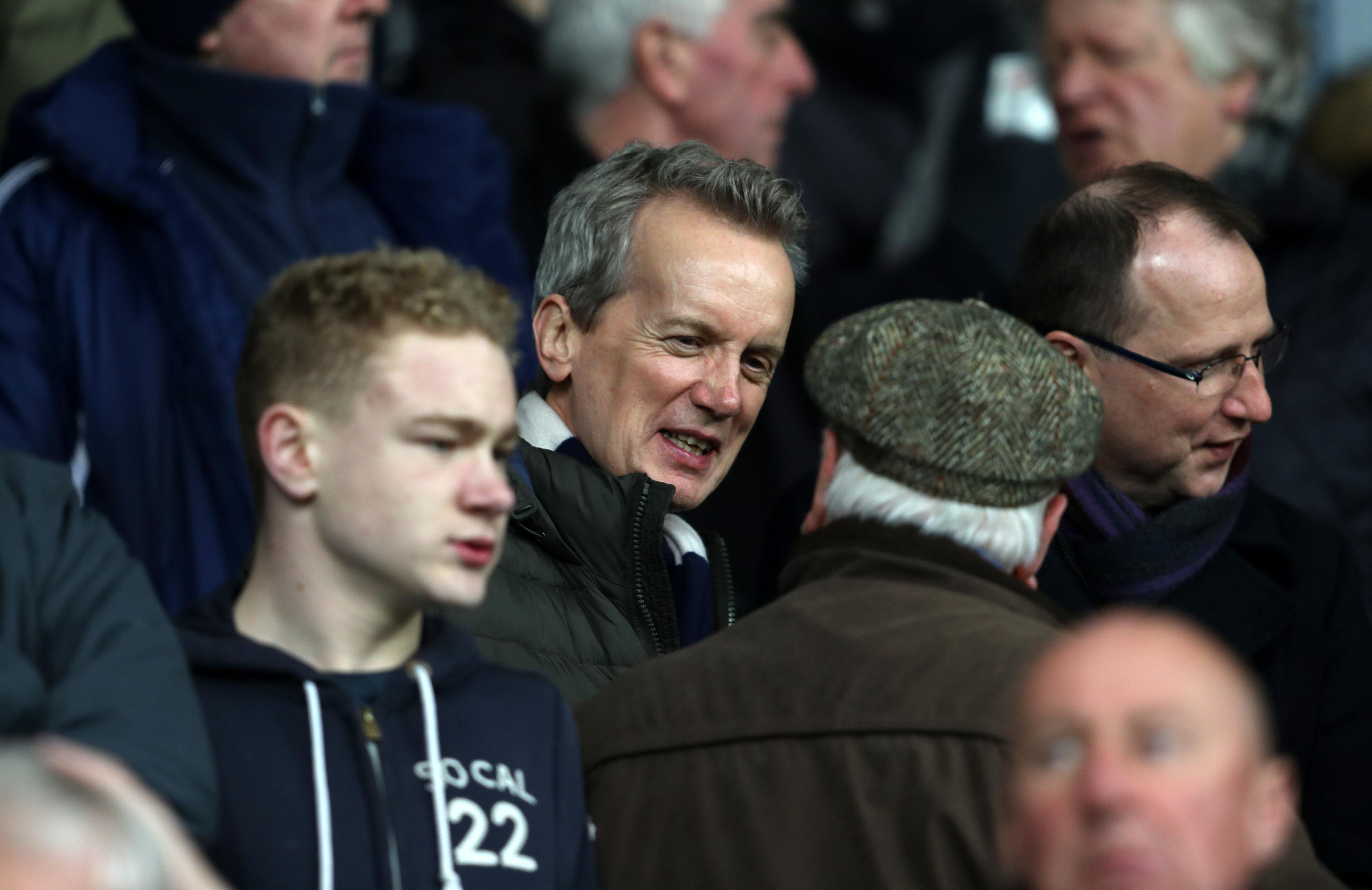 A familiar face - West Bromwich Albion fan Frank Skinner in stands.