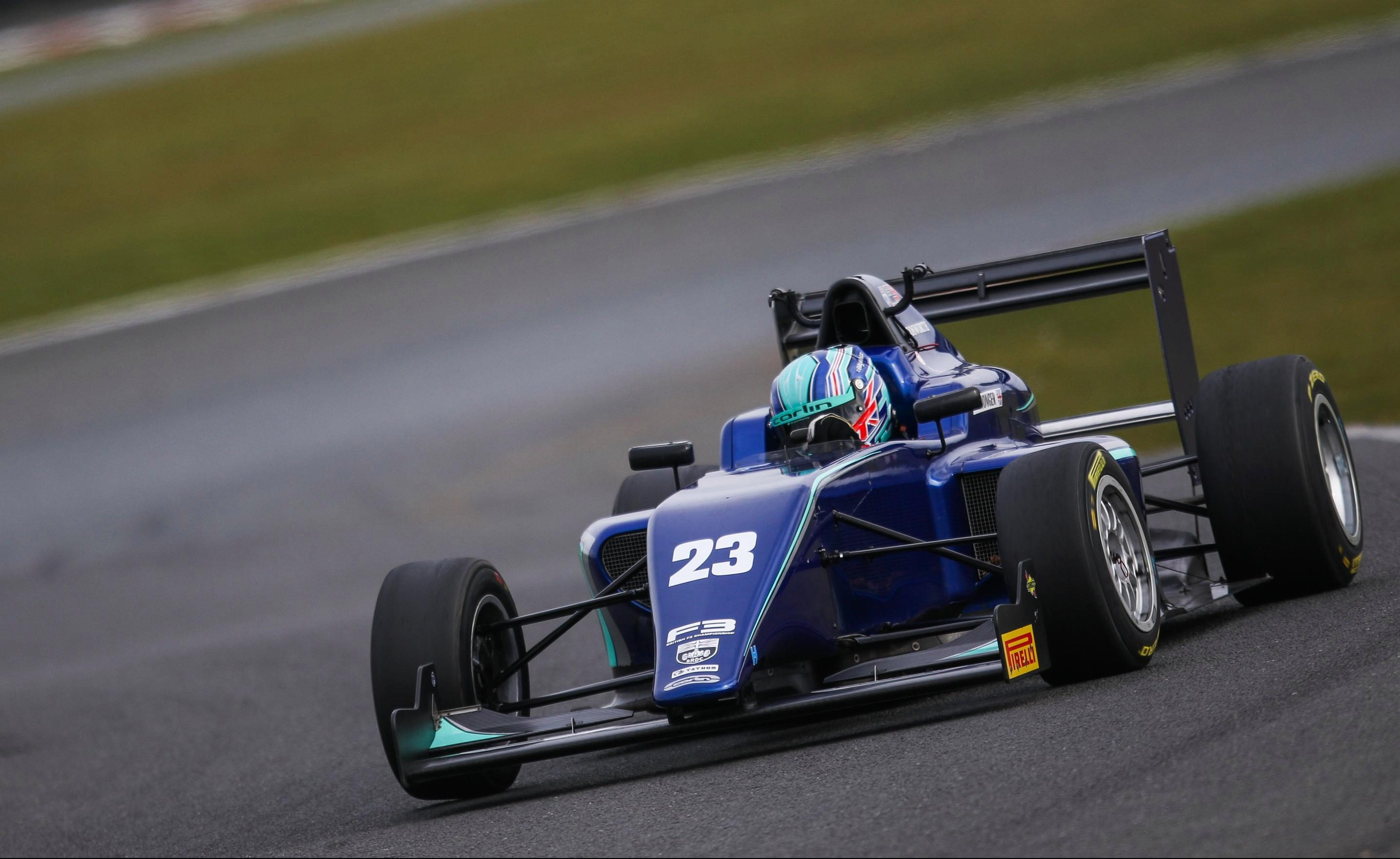 Surrey racer Billy Monger was fifth in qualifying but soon moved up to third place
