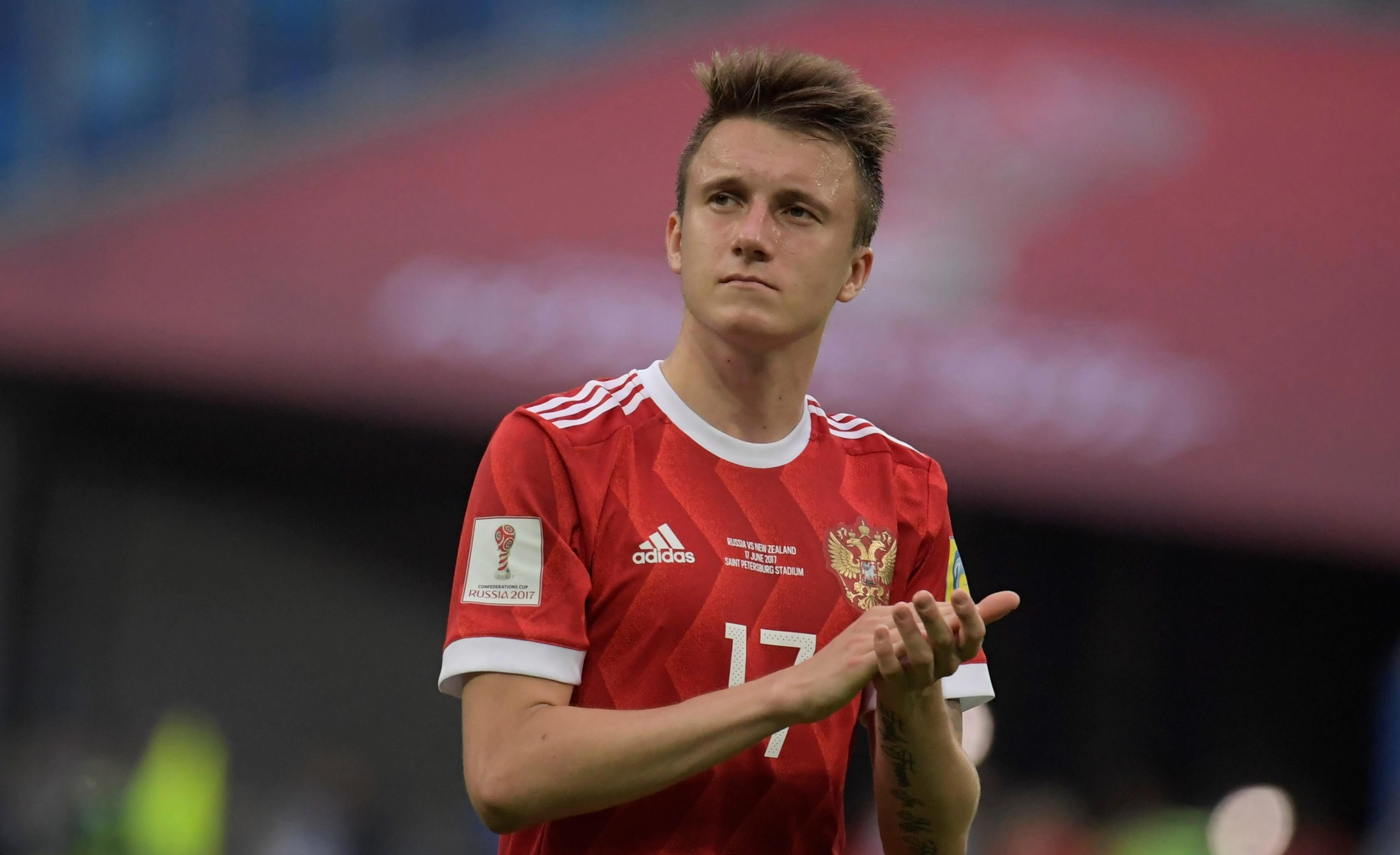 Russian World Cup hopes could rest on the shoulders of Aleksandr Golovin