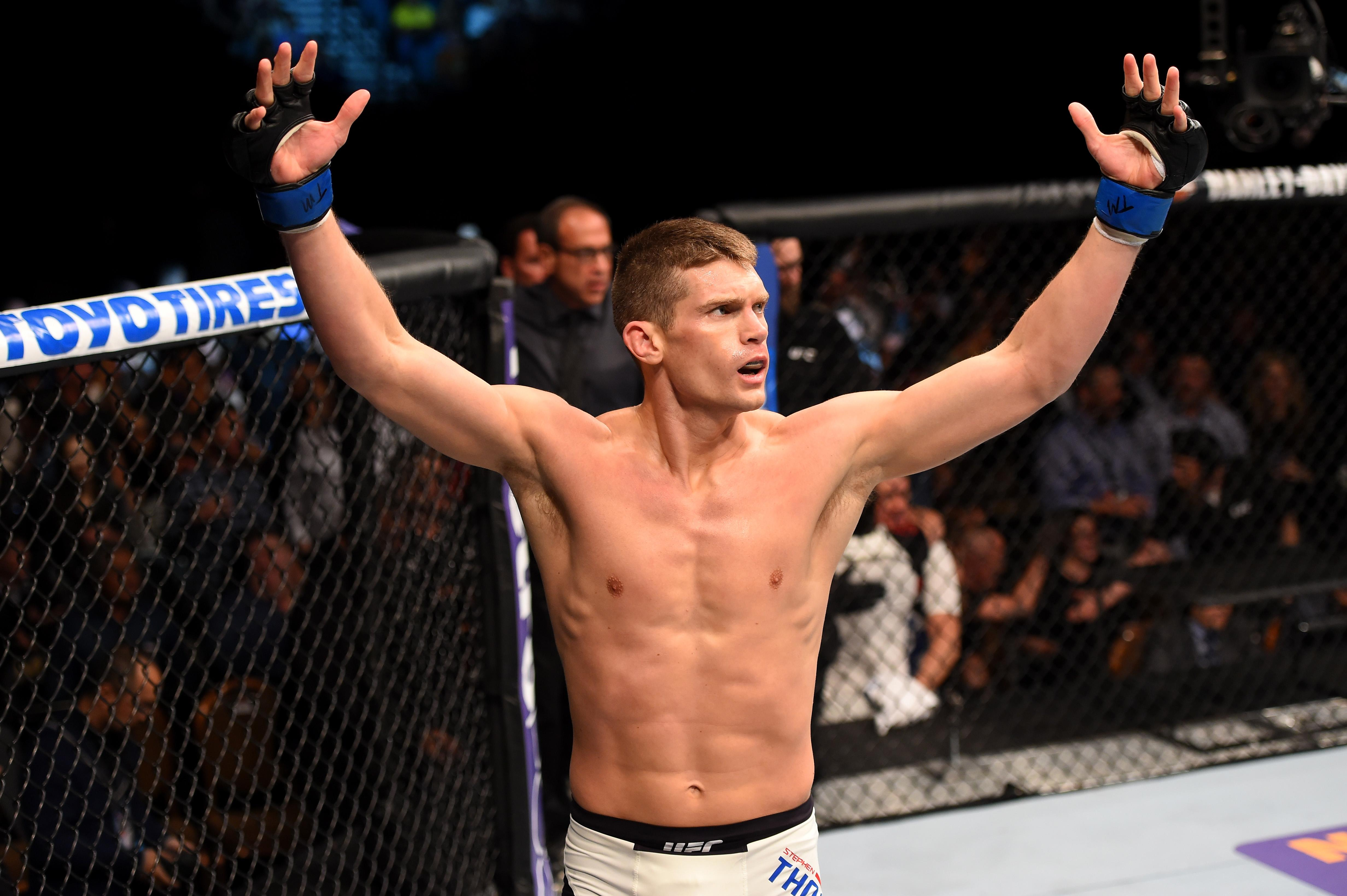 "Wonderboy said he originally thought the incident was staged and believed it was a ""publicity stunt"" by the UFC"