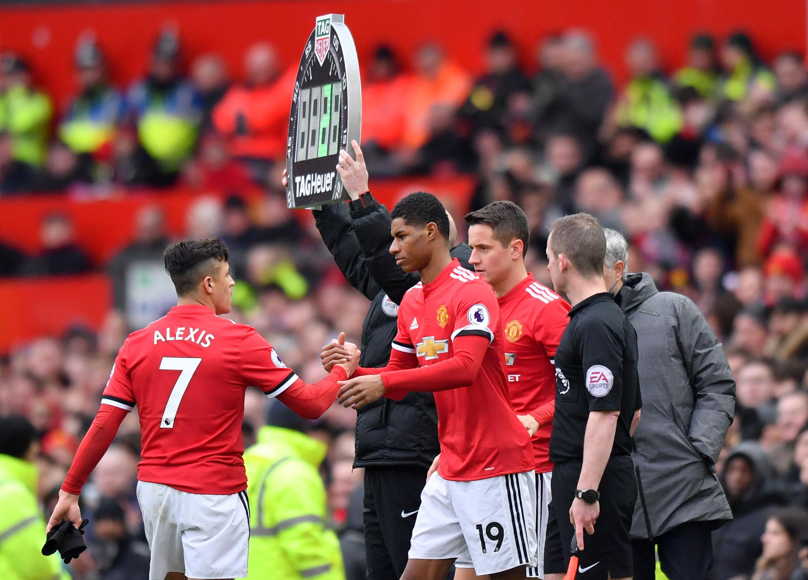 Marcus Rashford is behind Alexis Sanchez in the United pecking order