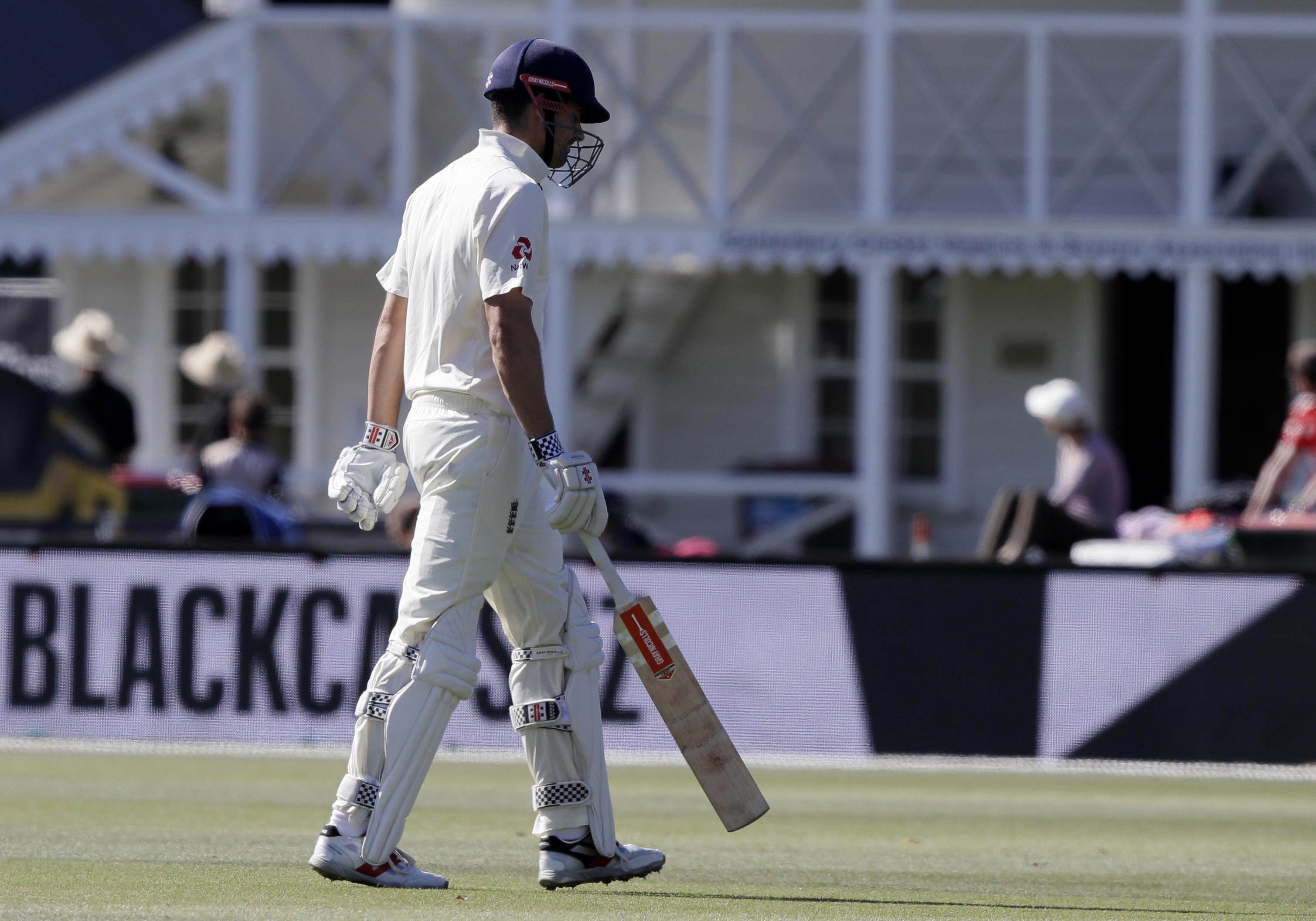 Alastair Cook is out for 14 and will finish series with just 23 runs