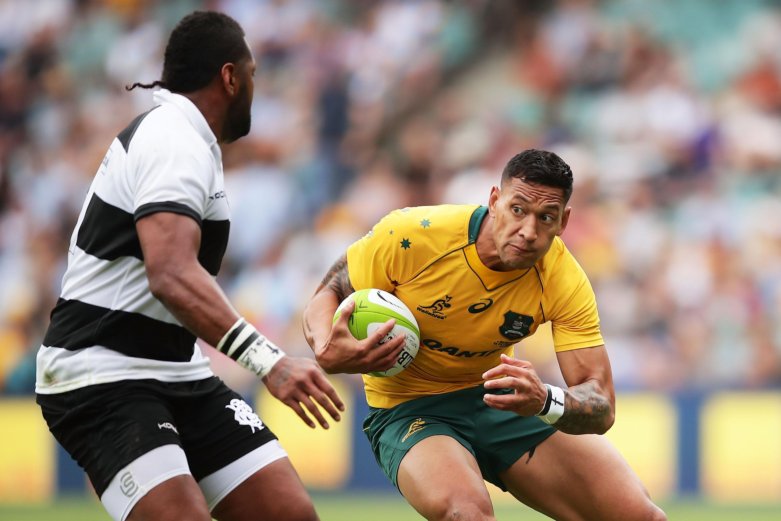 Israel Folau has caused outrage in his home country after his use of anti-gay slurs