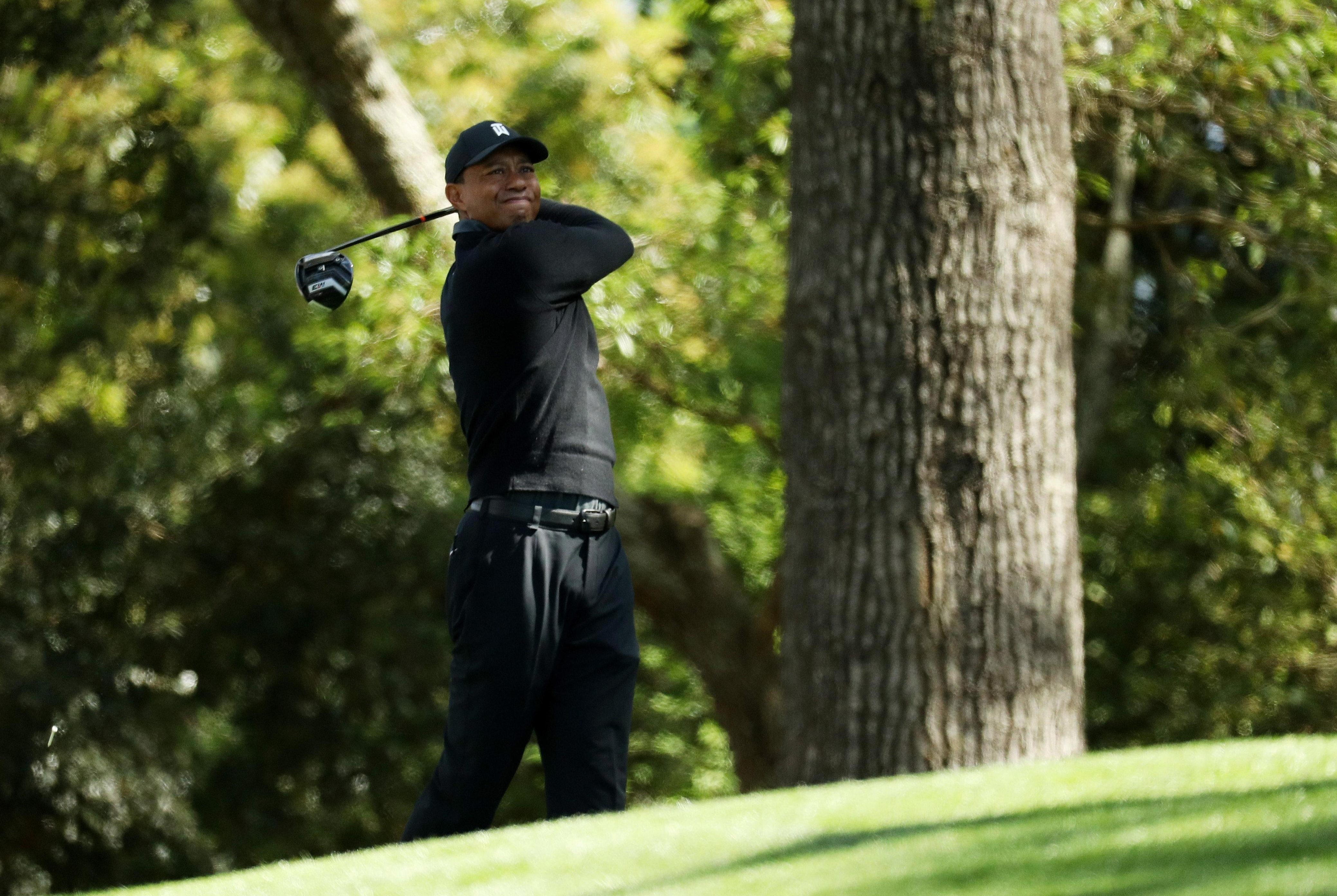 Tiger Woods hit a one-over-par 73 on Thursday at Augusta