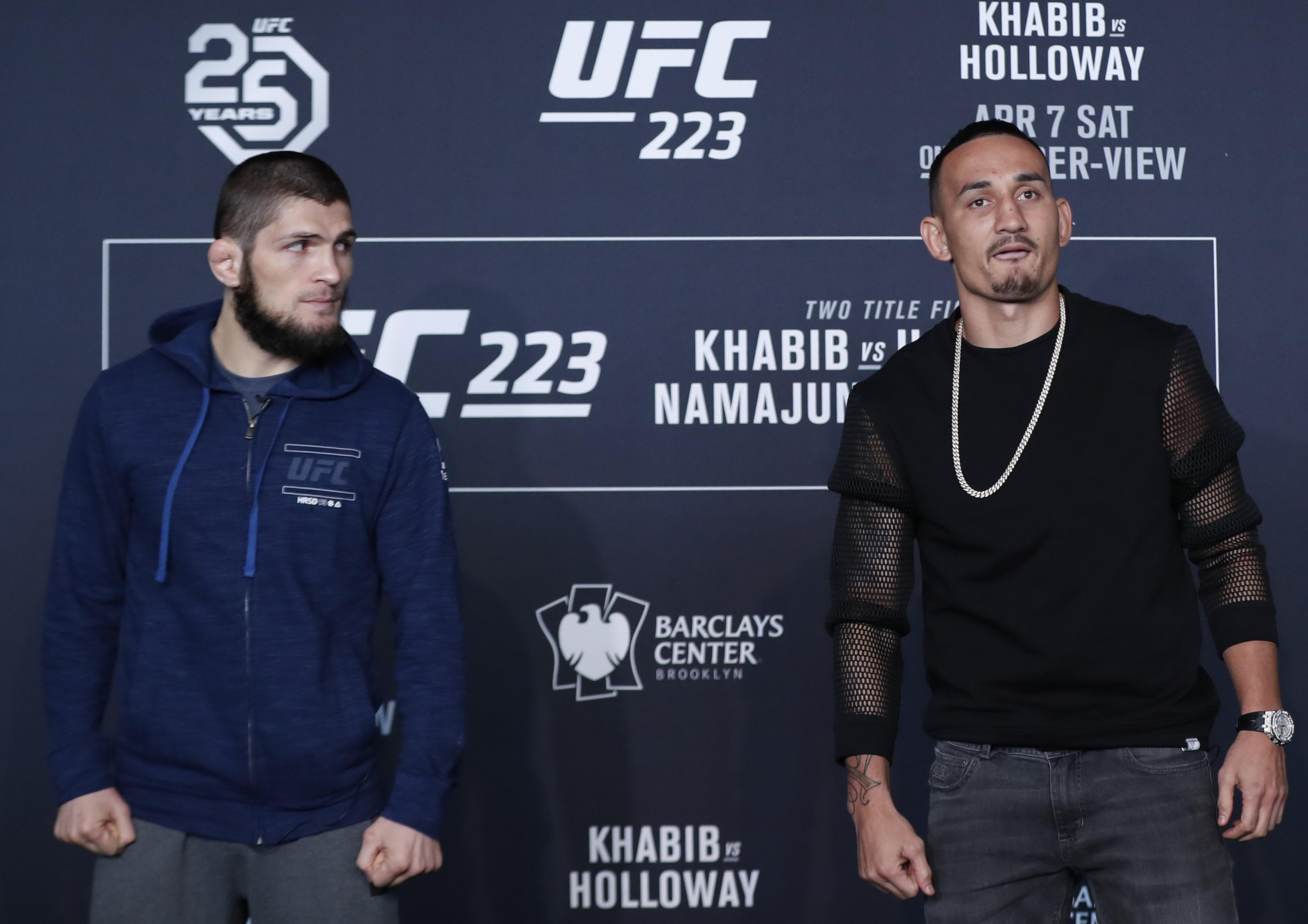 Max Holloway had stepped in at short notice to challenge Khabib Nurmagomedov for Conor McGregor's old lightweight title