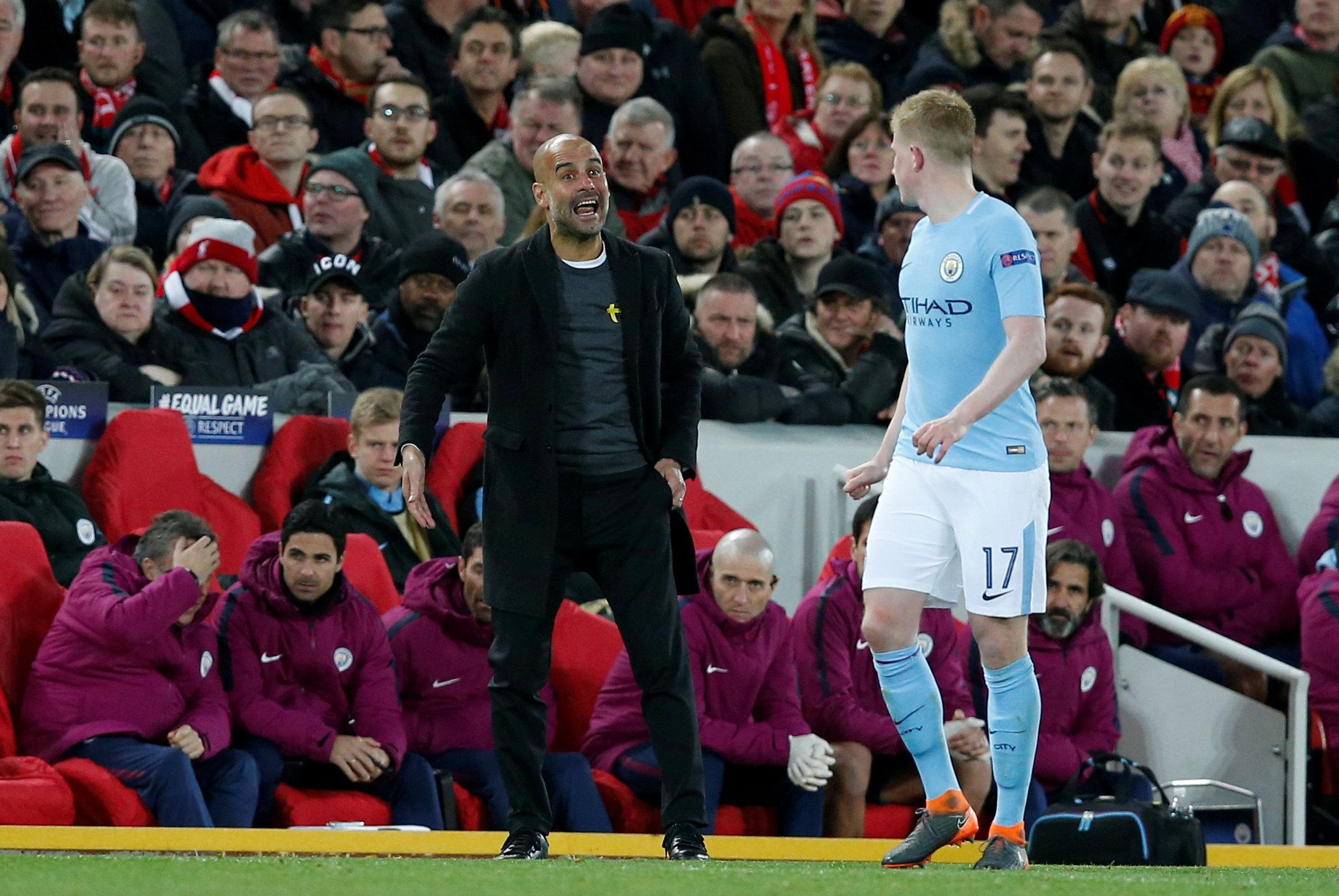 Pep Guardiola may rest players like Kevin De Bruyne for the game