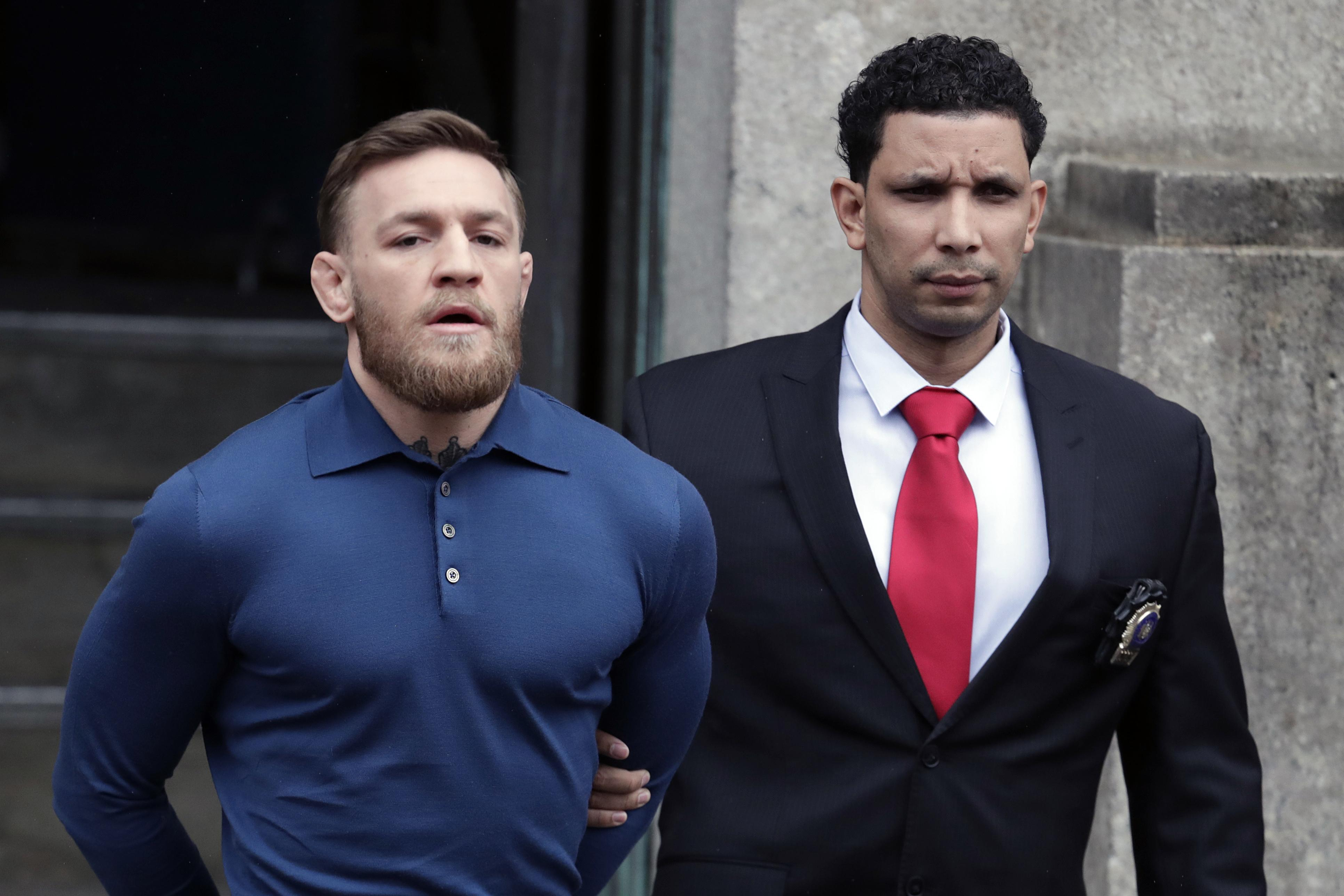 Conor McGregor has been charged with three counts of assault and one of criminal mischief after chaos reigned at yesterday's UFC 223 media day
