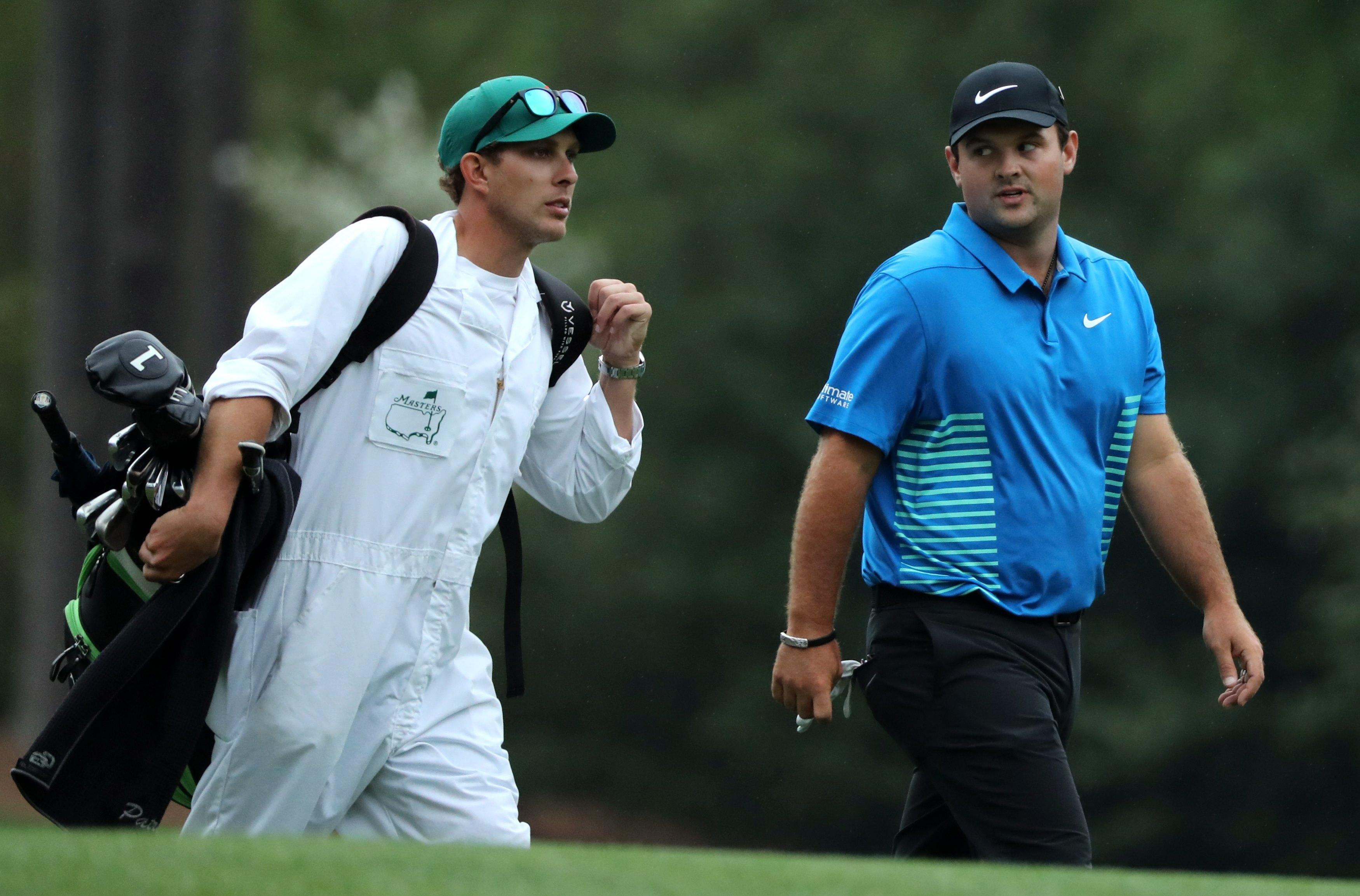 Brother Kessler Karain is Reed's caddie for the 2018 Masters