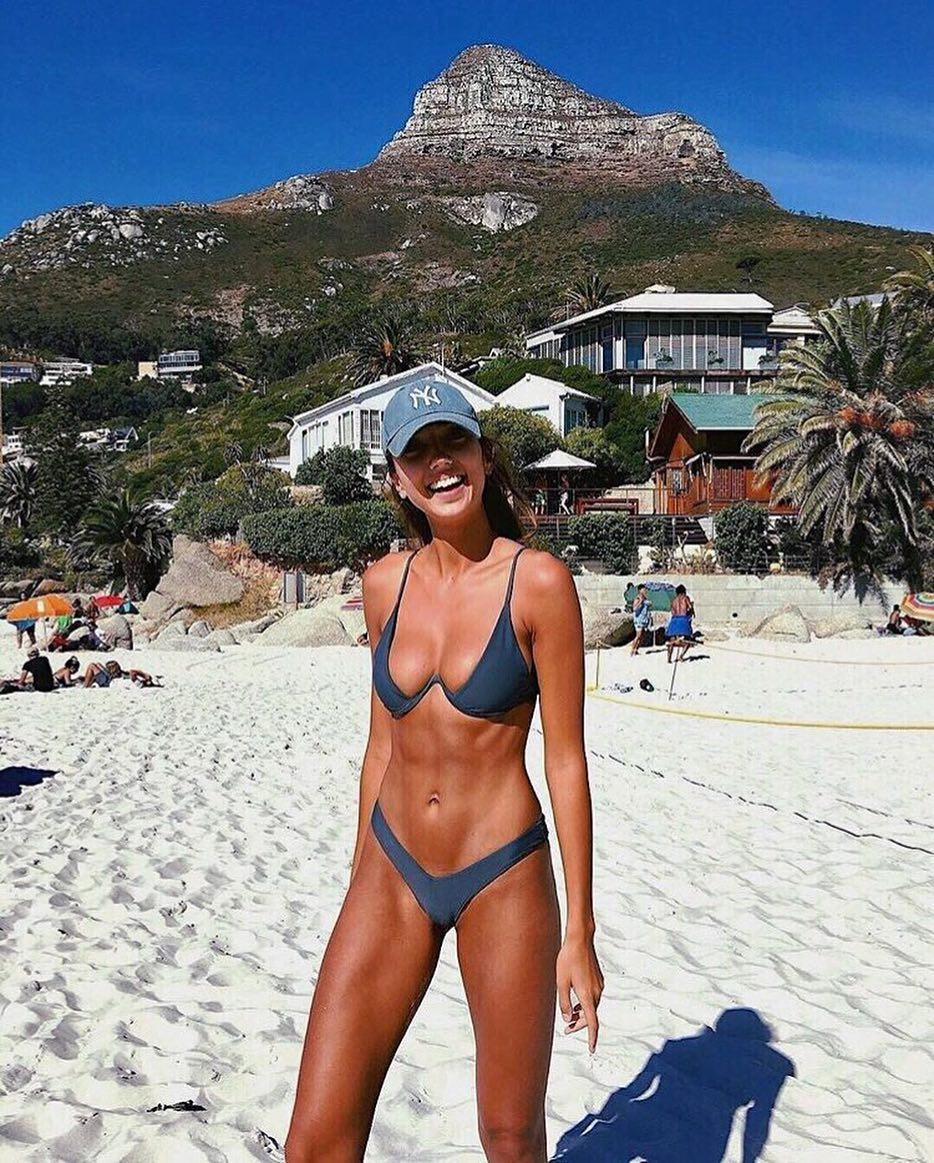 The new V-bar bikini is the must-have style of the summer season - it's gone viral on Instagram and it's easy to see why...model Shannon Lawson sports the Vino version from Australian label Bamba