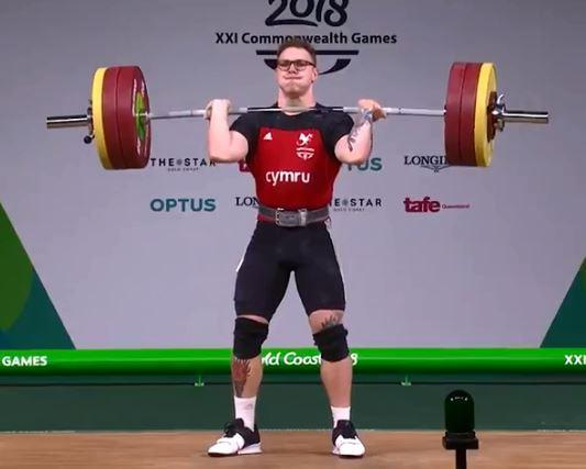 Welsh weightlifter Joshua Parry was competing in the Commonwealth Games Men's 94kg final