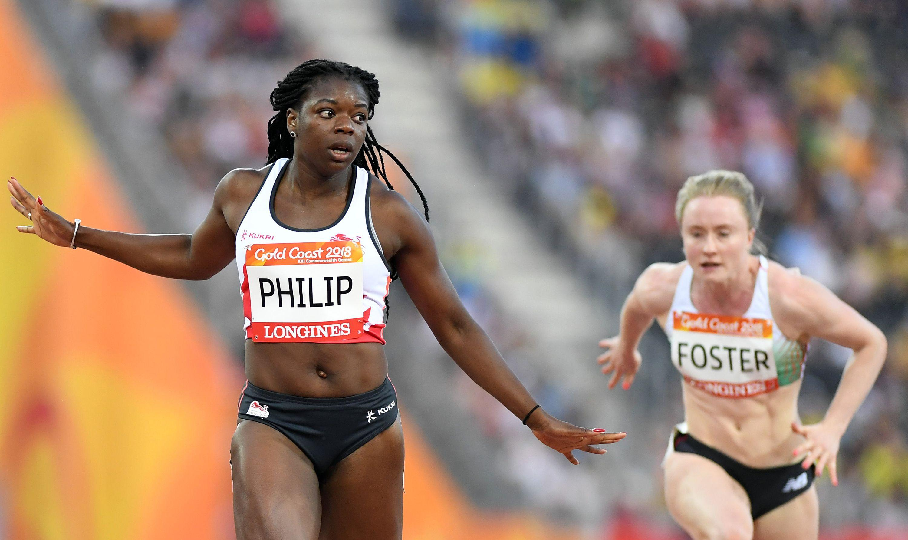 Team England's Asha Philip goes in the final