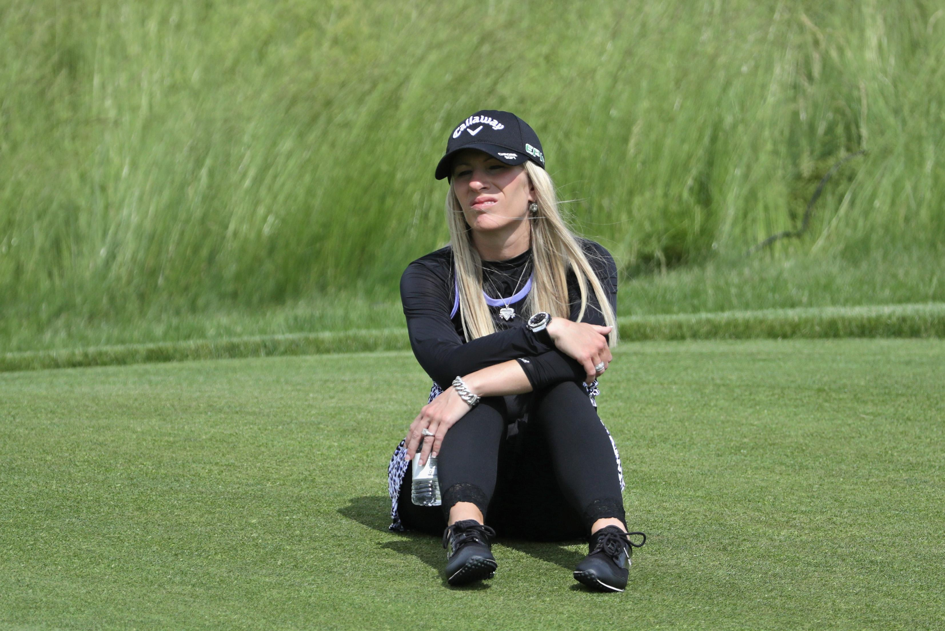Justine Reed is usually seen with husband Patrick on the golf course