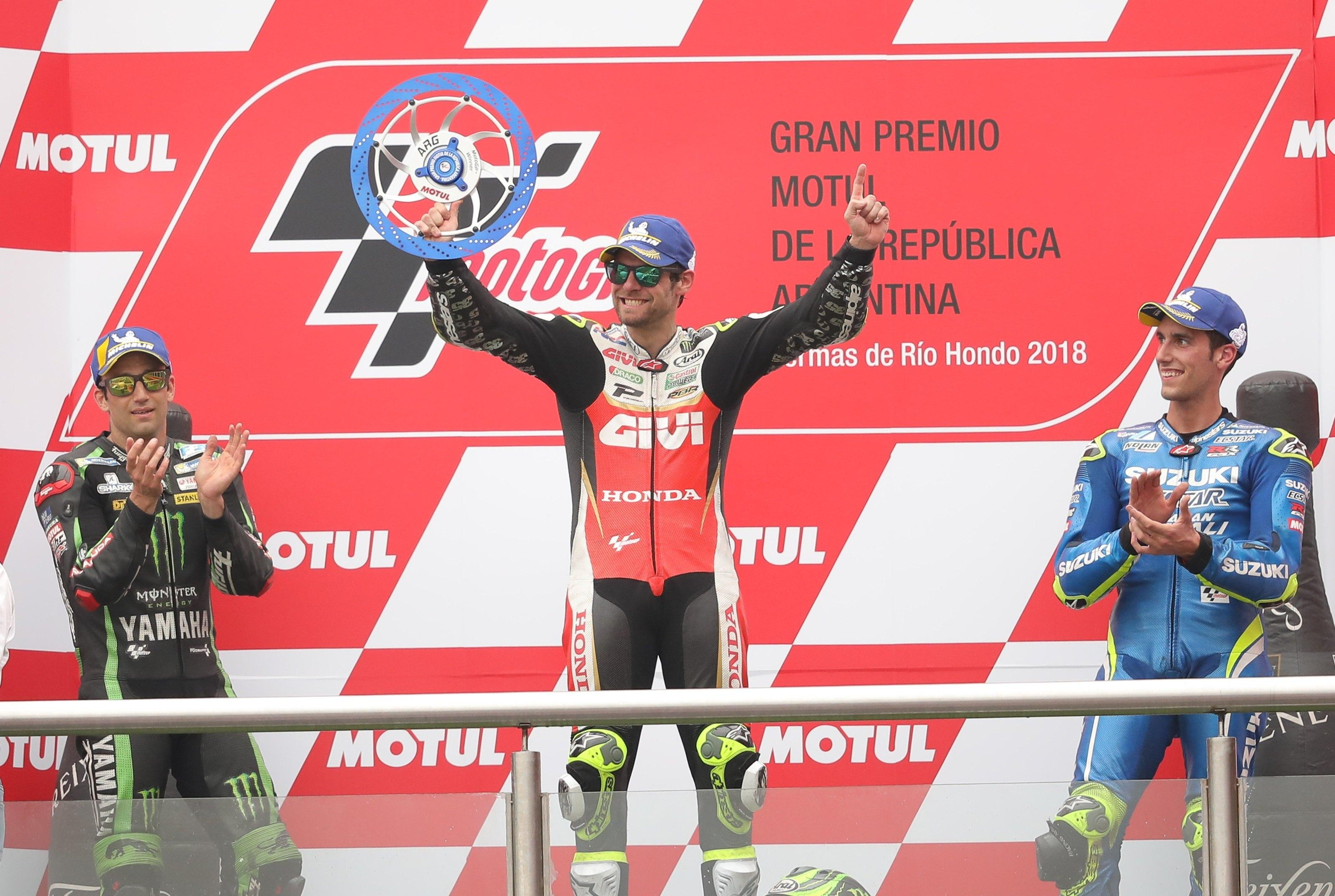 Cal Crutchlow took the chequered flag in Argentina