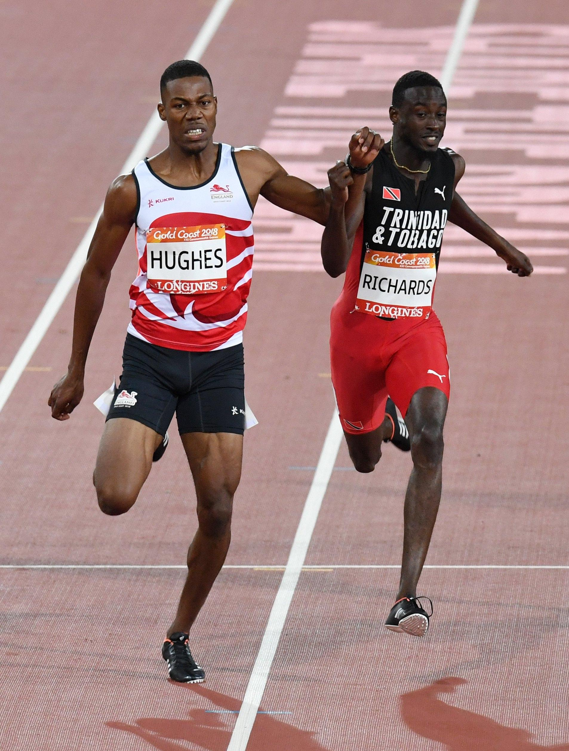 Zharnel Hughes was disqualified after winning the individual 200m final