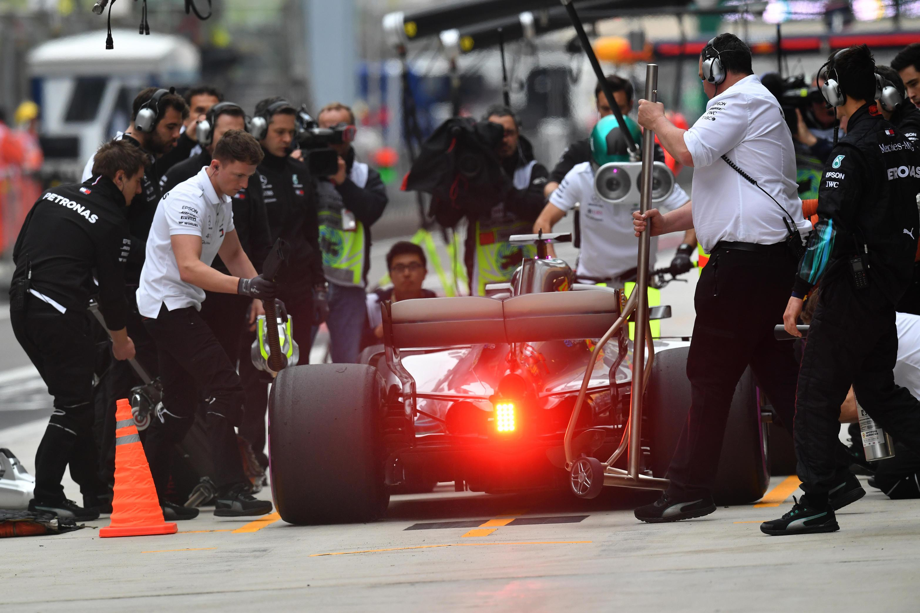 Lewis Hamilton finished in fifth but was bumped up to fourth in China