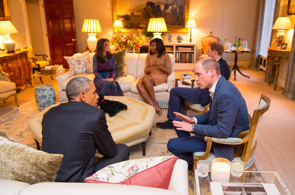 The pad has official drawing rooms for receiving high profile visitors
