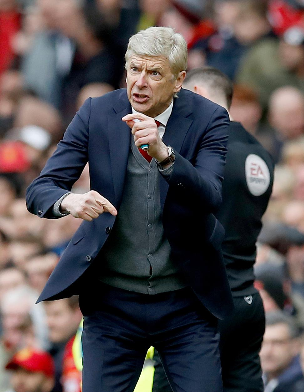 Arsene Wenger was clearly in the know who hadn't done their job right at the death