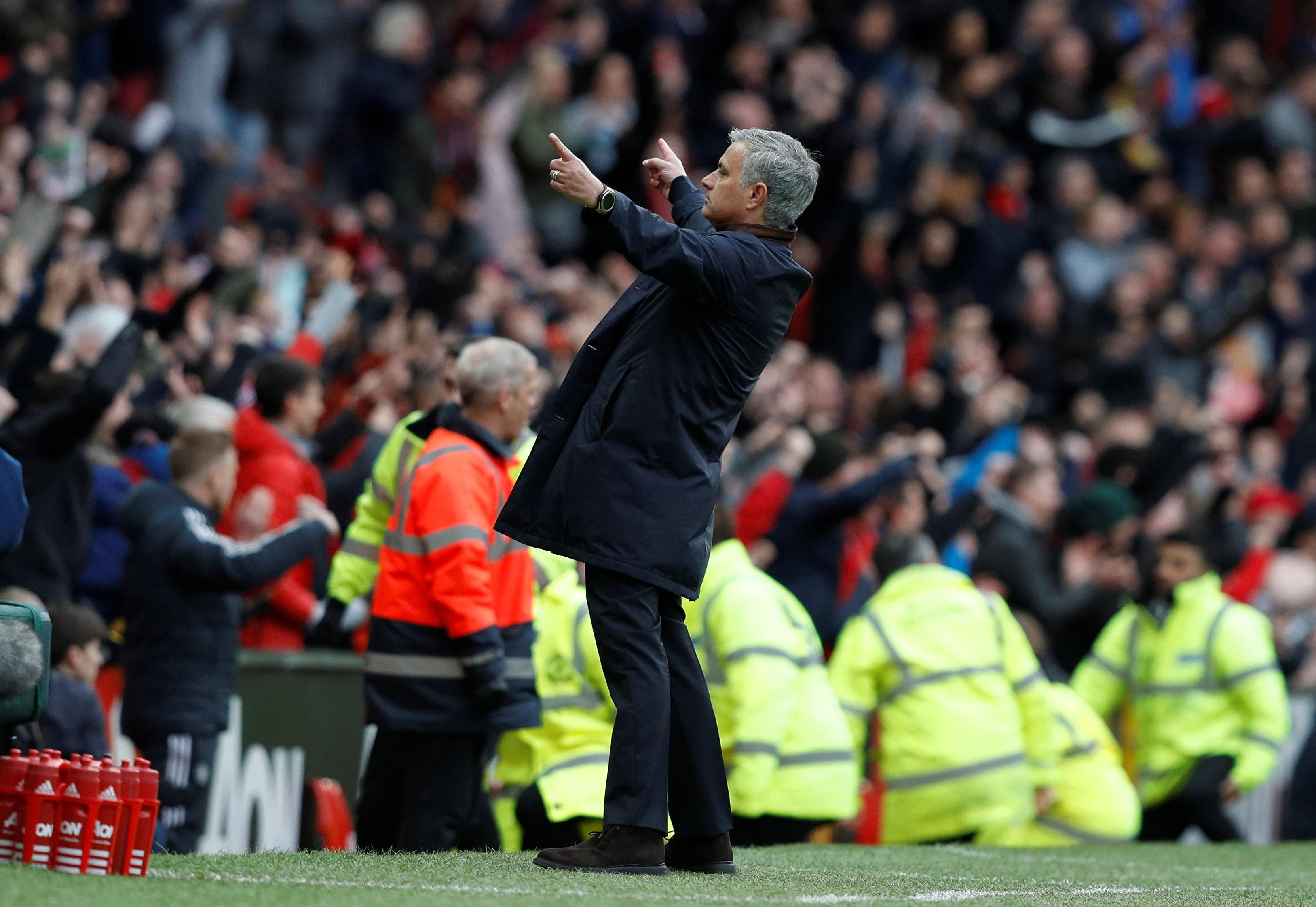 For his opposite number Jose Mourinho, the day couldn't have ended any better