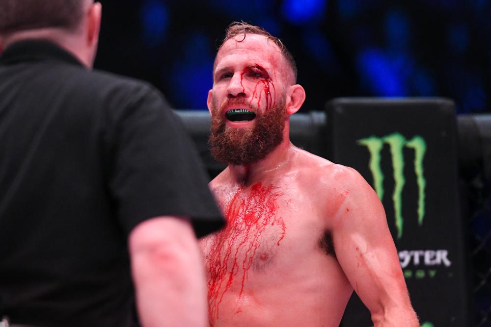 David Rickels quits after Michael Page splits his eye