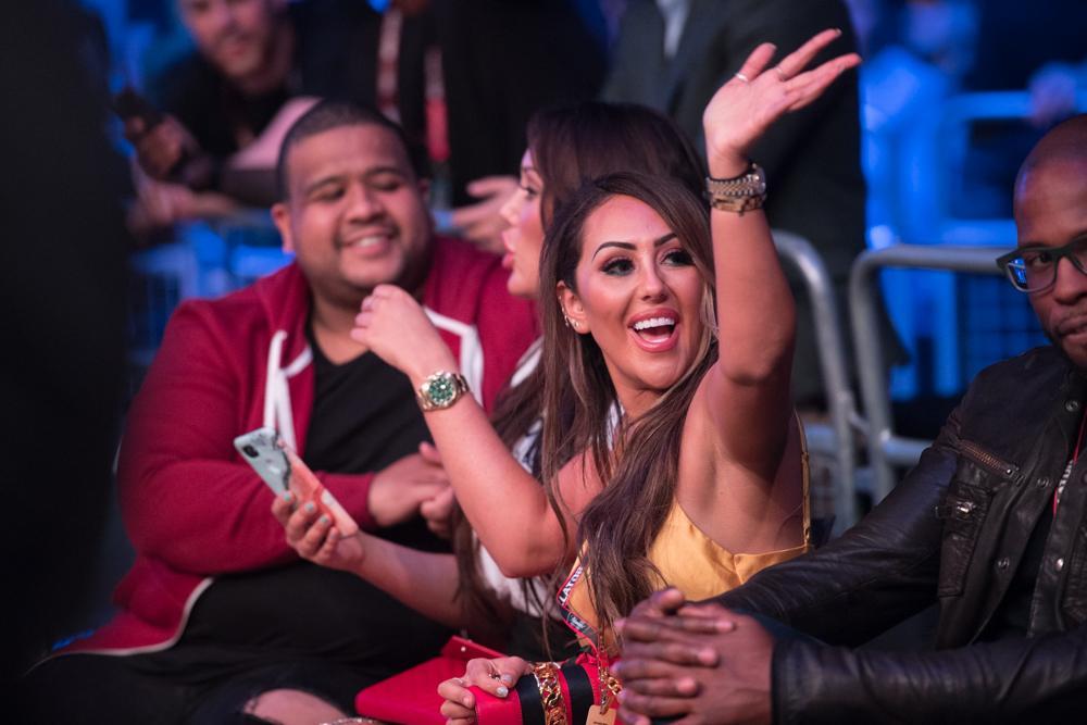 The MTV beauties were cheering on their man on his Bellator debut