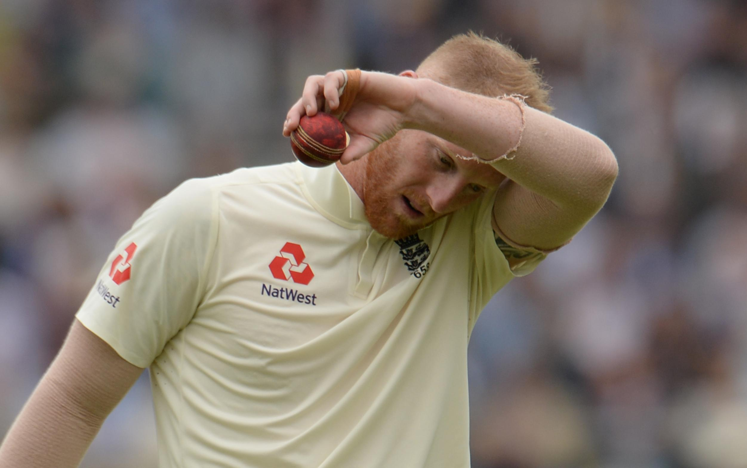 England toiled all day in the field and face a huge deficit