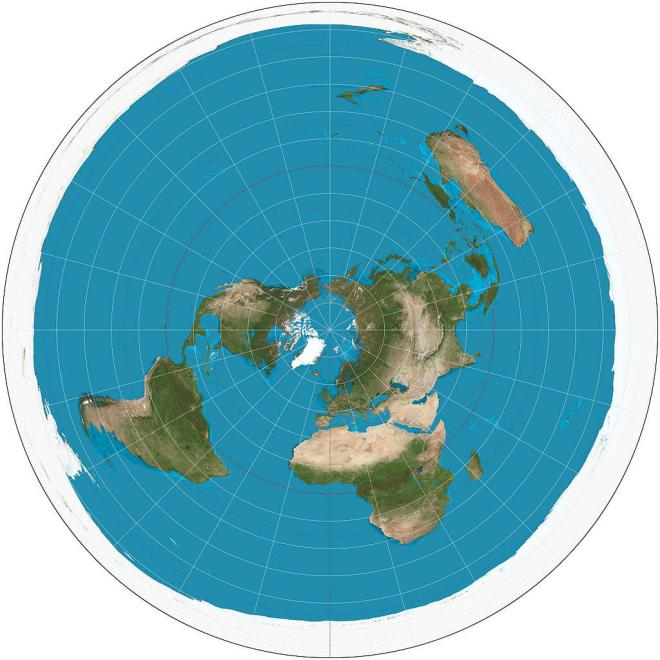 A version of how a flat earth would look