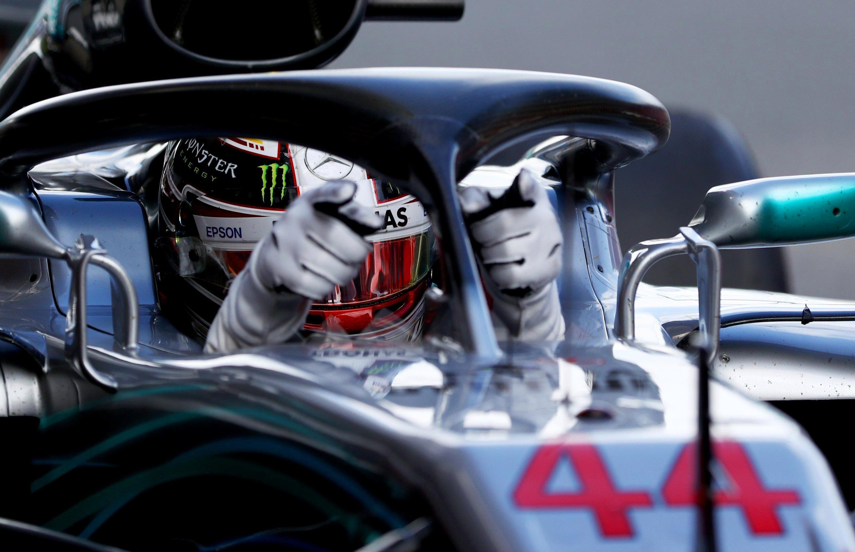 Lewis Hamilton is 17 points clear of Sebastian Vettel