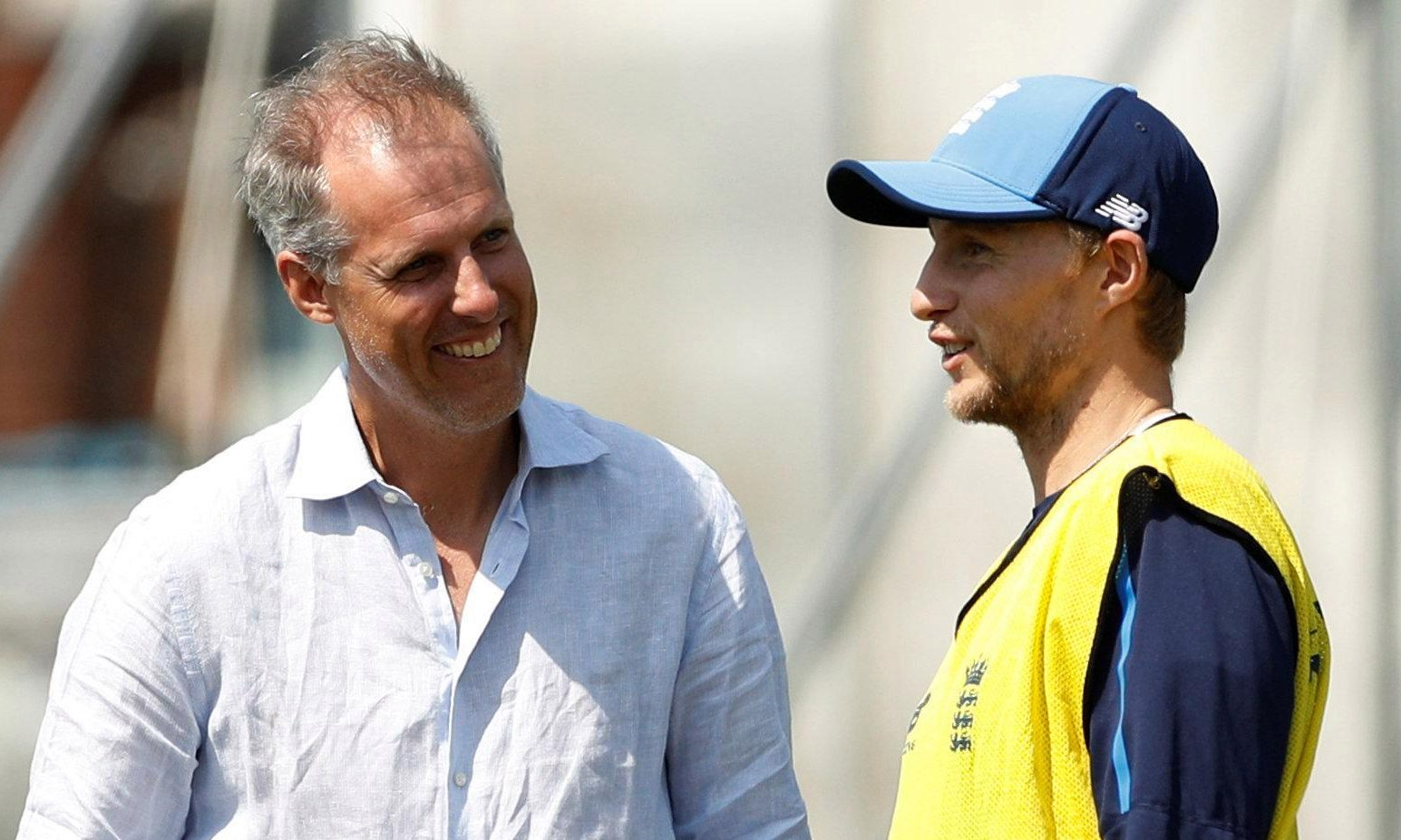 Ed Smith, seen with England skipper Joe Root, has been praised for his plain speaking and honest answers to England players