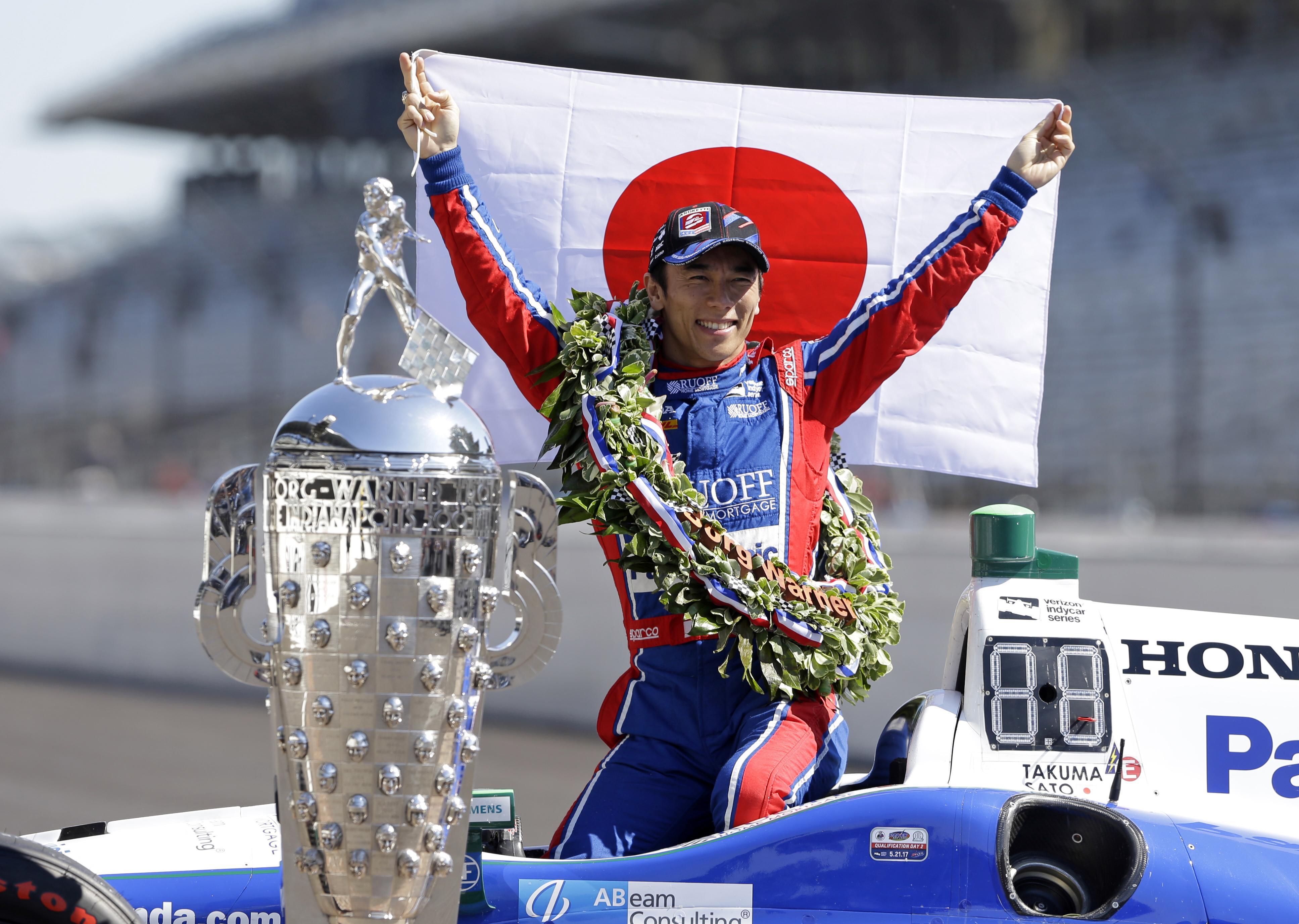 Takuma Sato won the 2017 Indy 500
