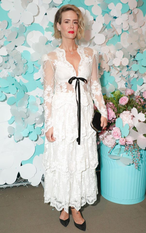 Sarah Paulson at the Tiffany and co. jewellery launch 2018