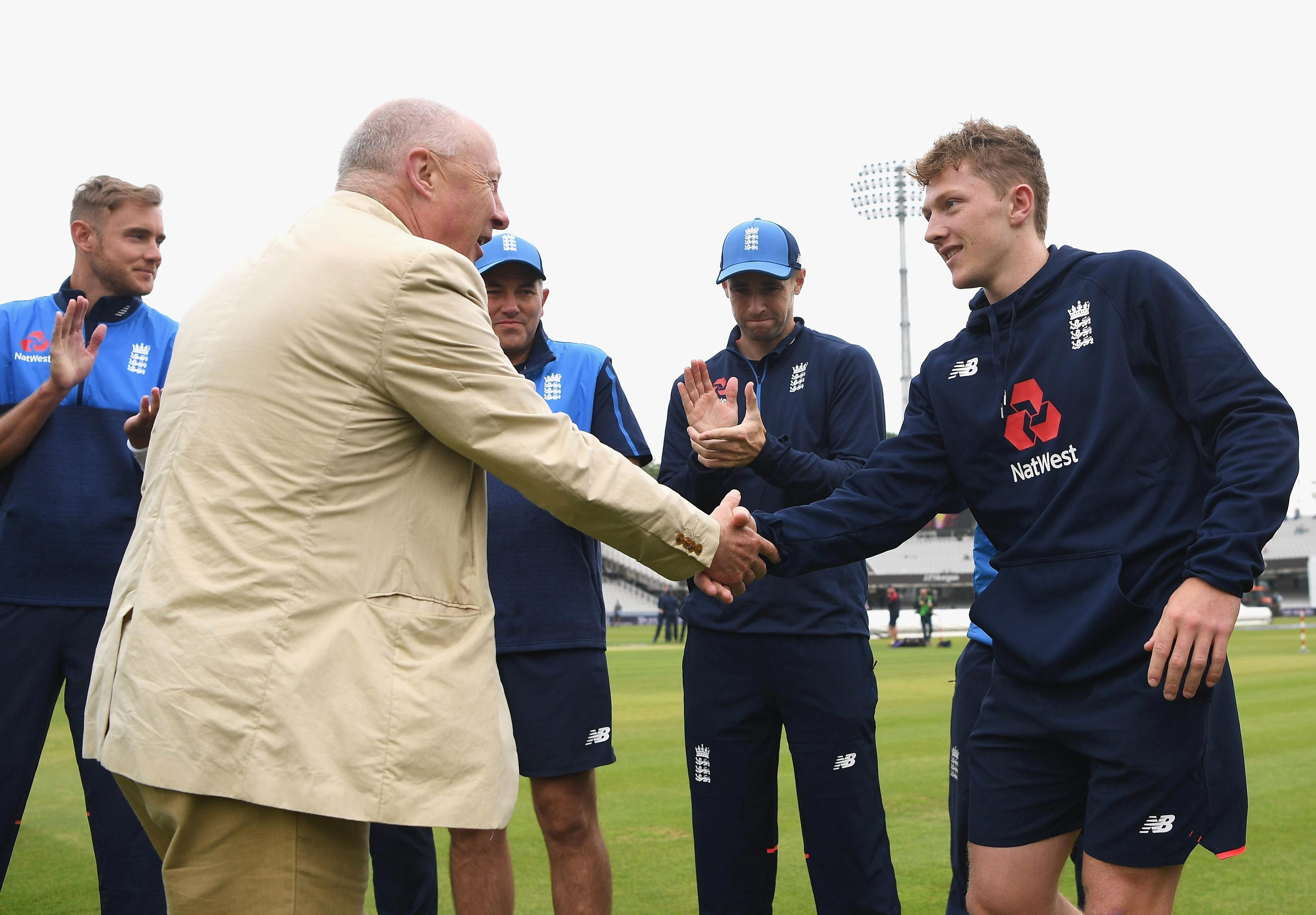 Spinner Dom Bess is awarded his first Test cap before the start of play