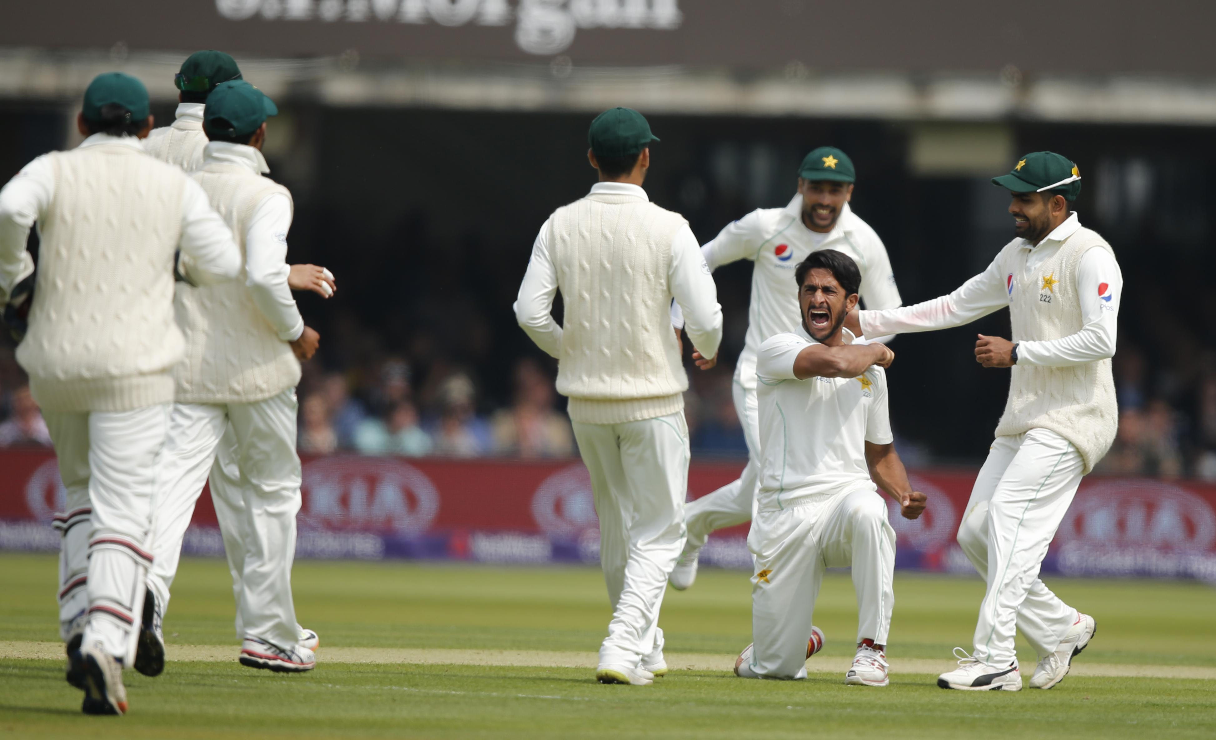 Hasan Ali claimed a major scalp after getting out Joe Root caught behind