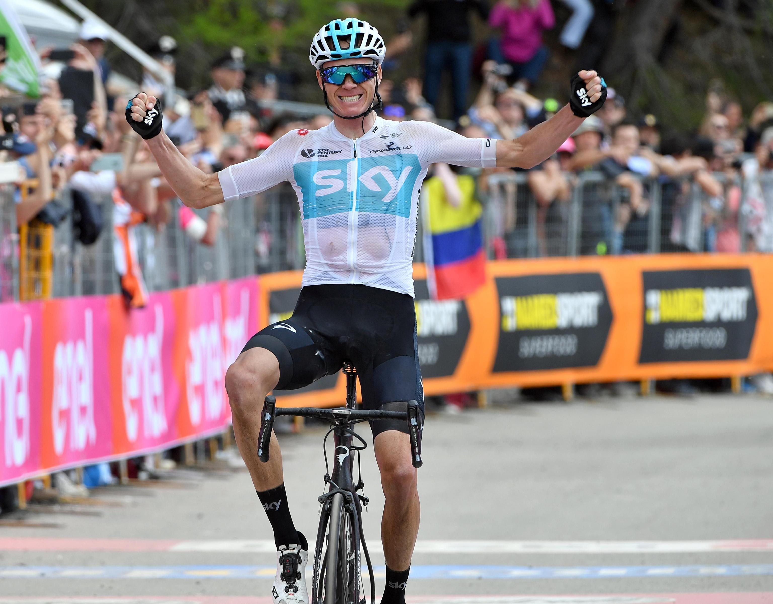 Froome went on to dominate the stage after the incident