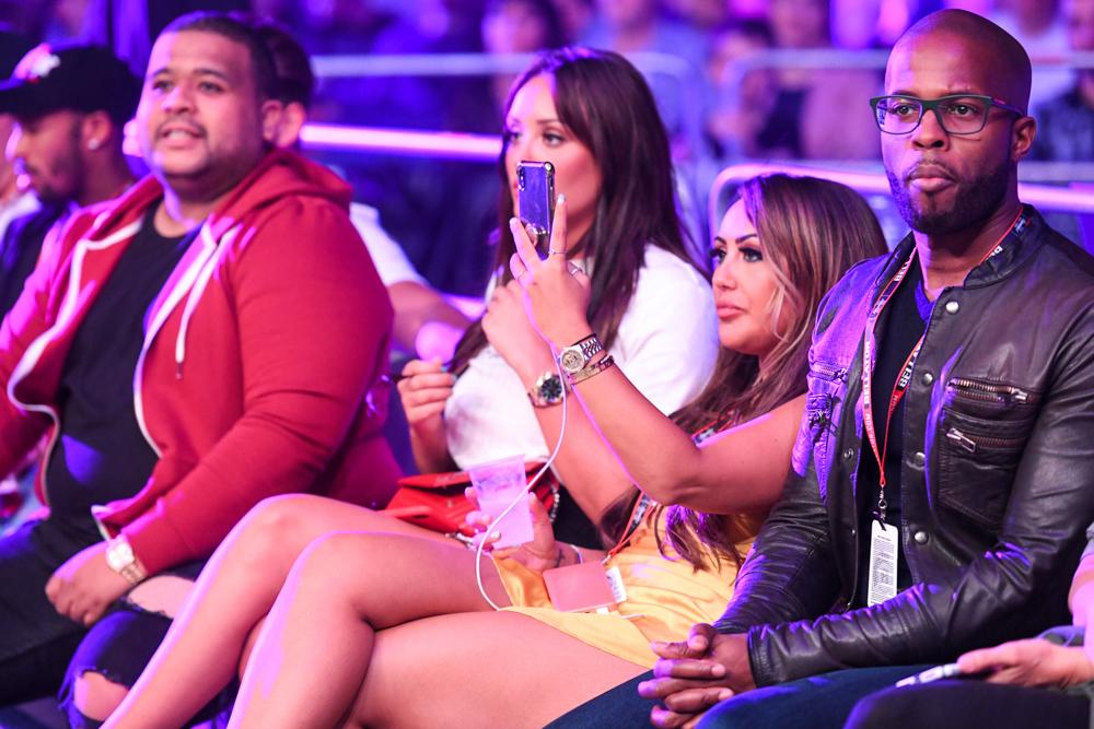 Geordie Shore stars Sophie Kasaei and Charlotte Crosby were there to watch Aaron Chalmers