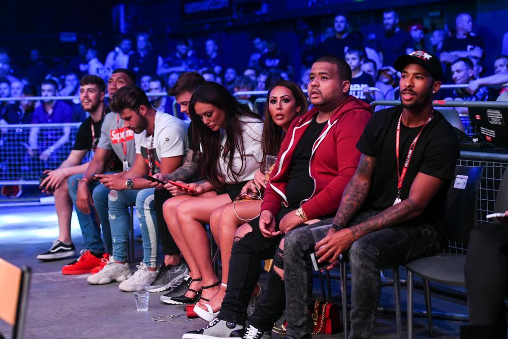 Aaron Chalmers was cheered on by ex-Geordie Shore cast-mates at Wembley