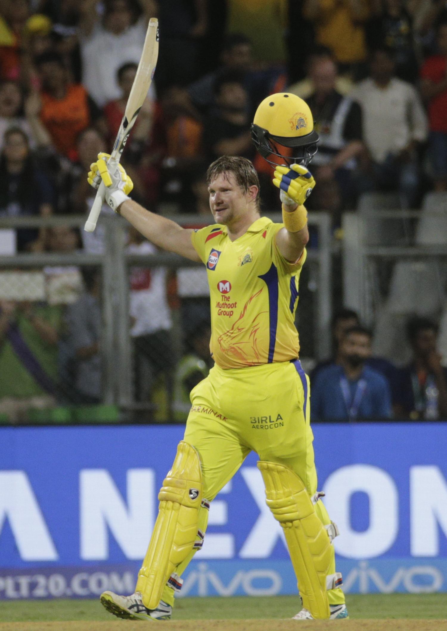 Watson, 36, hit an unbeaten 117 runs off 57 balls for CSK