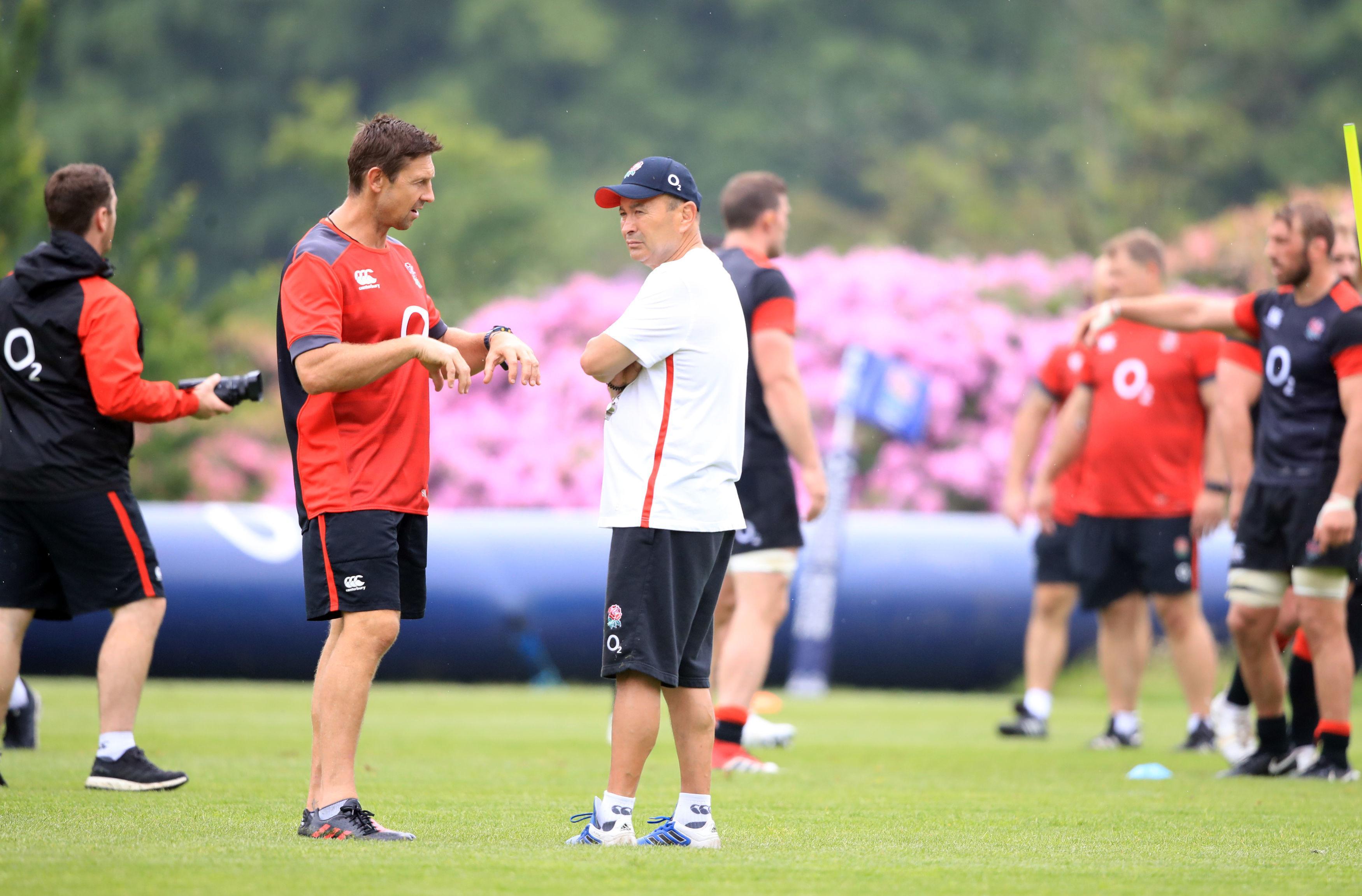 England head coach Eddie Jones during a training session