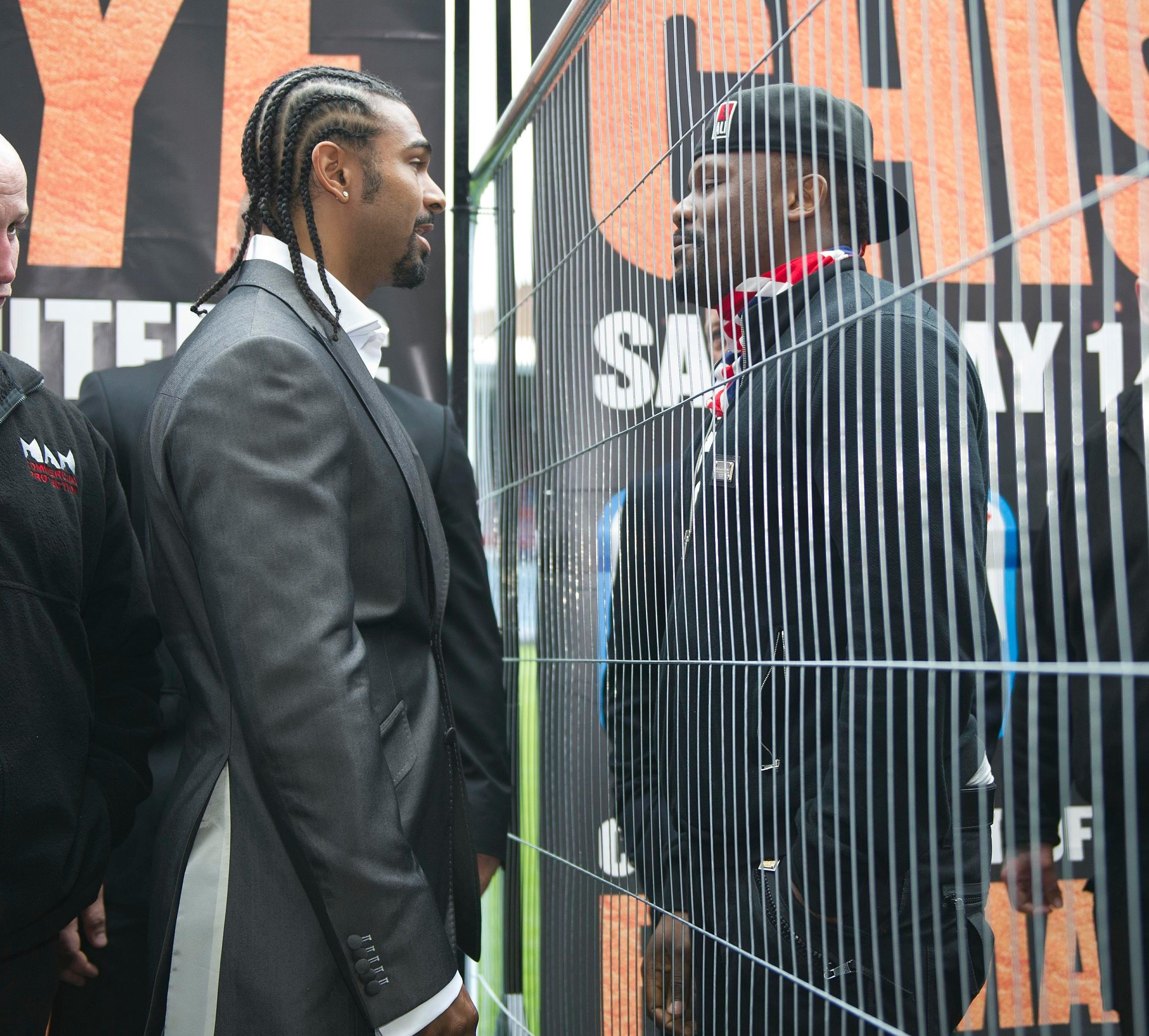 Haye feuded with Dereck Chisora, culminating in a brawl in which Chisora claims Haye glassed him