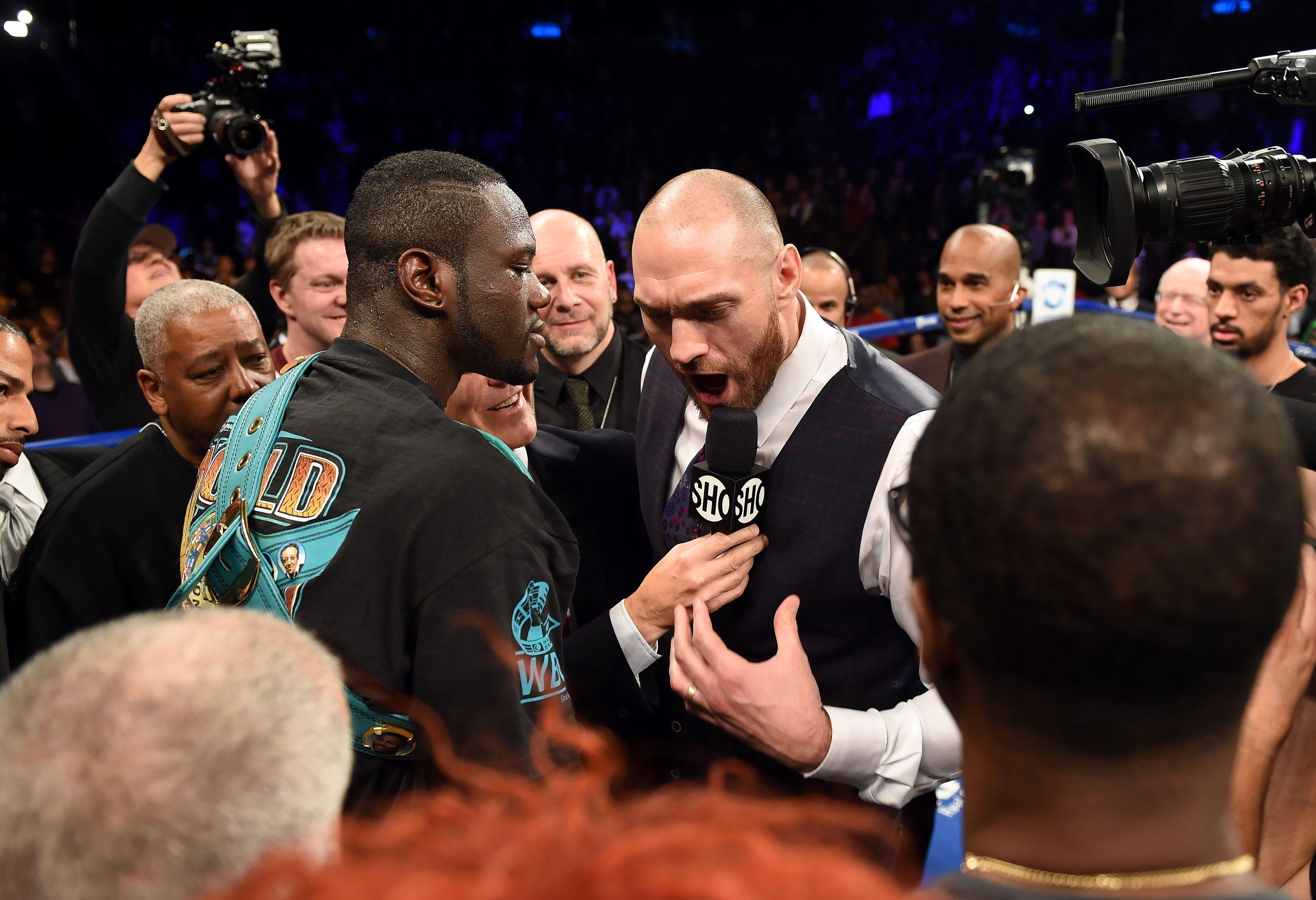 Tyson Fury had his say on Wilderat Barclay's Center in Brooklyn, New York in 2016
