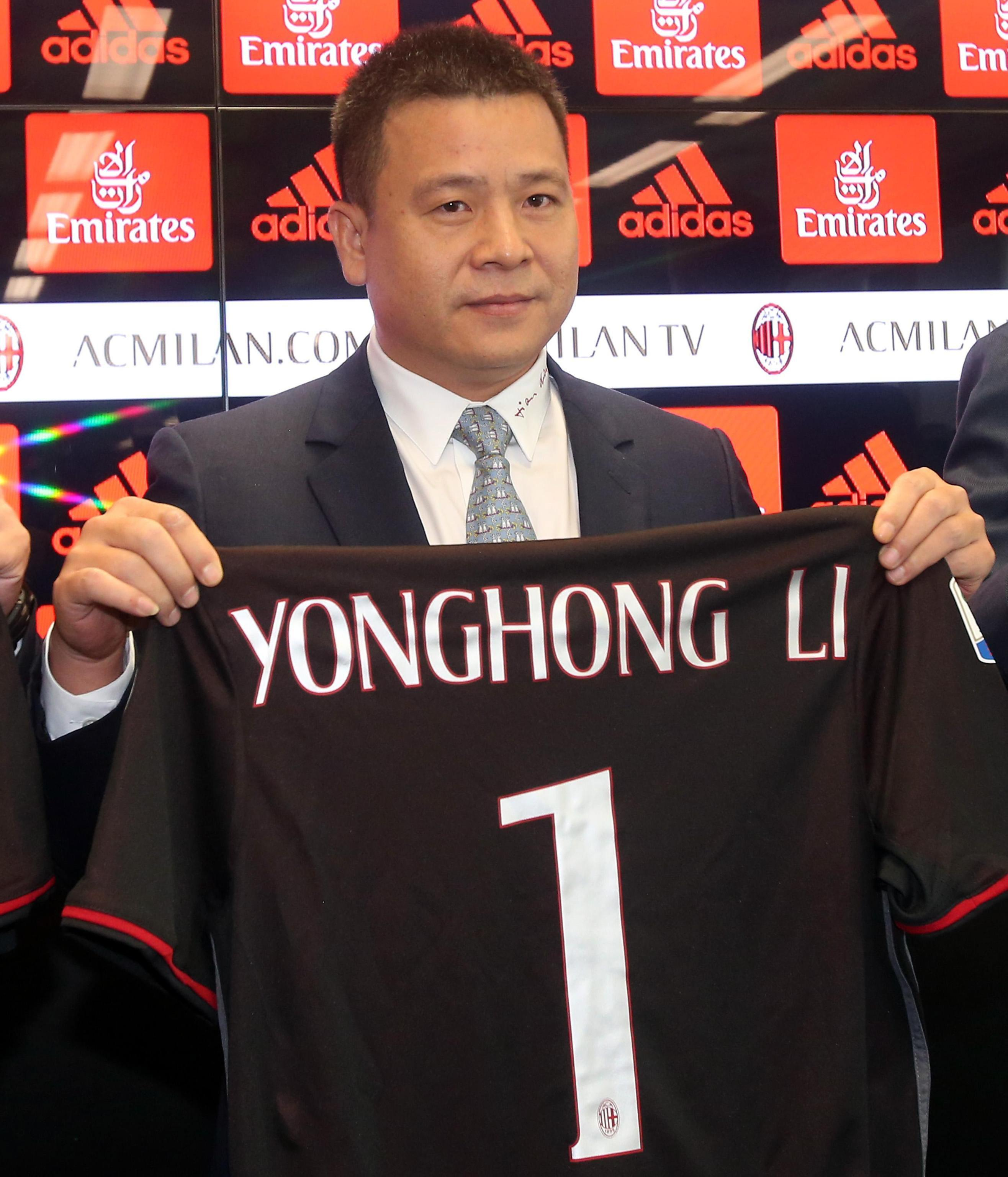 Li Yonghong was installed as AC Milan's new chairman last year, bringing an influx in signings