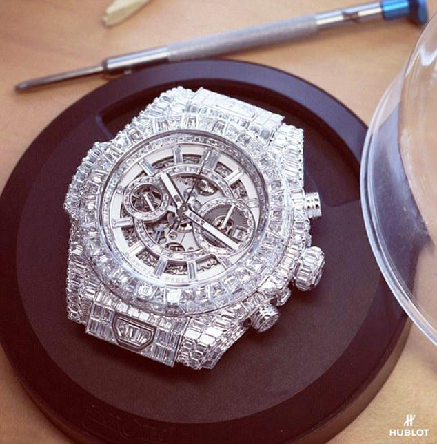 Floyd Mayweather has a vast collection of watches - this one costs £1m