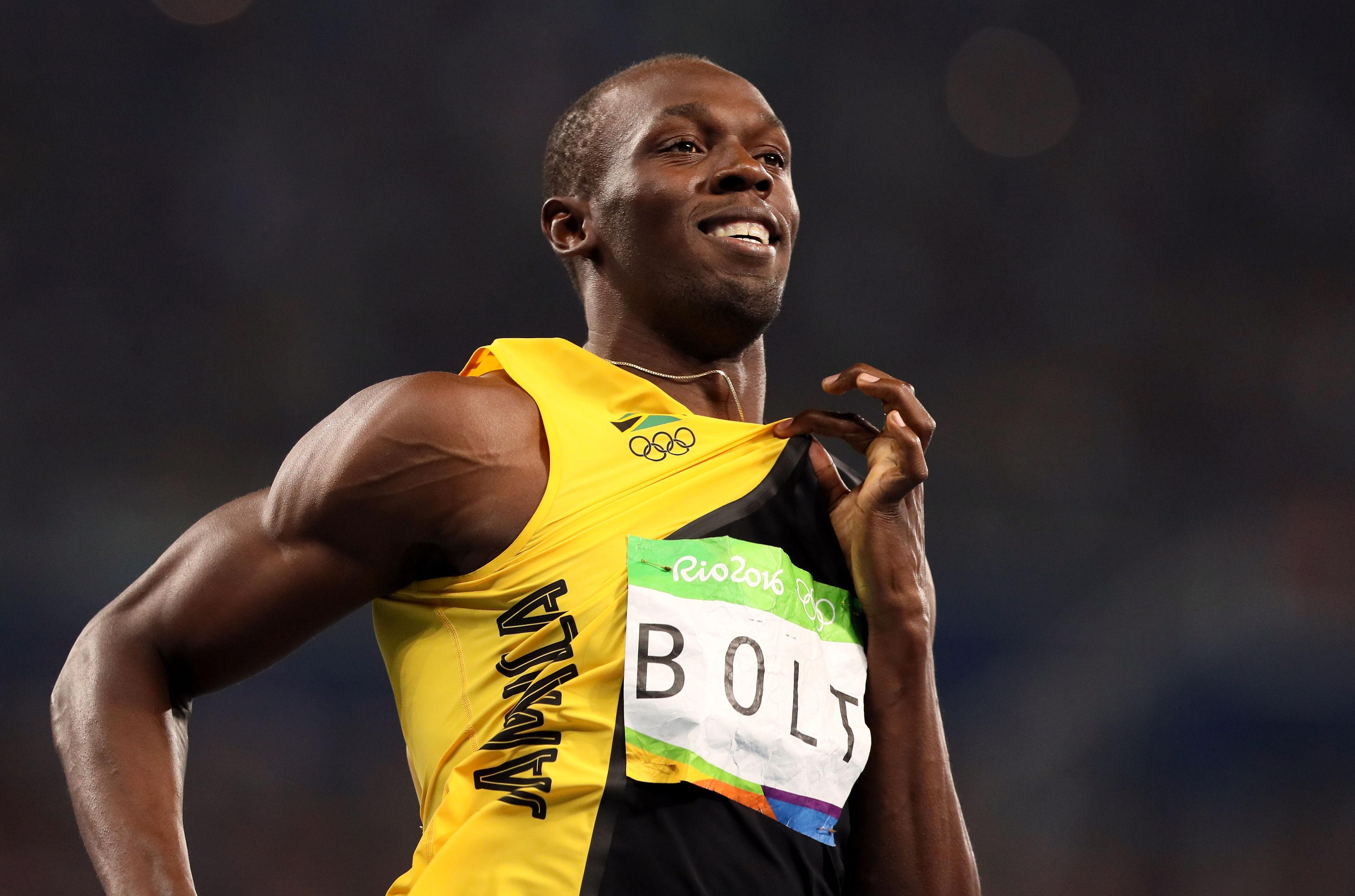 Usain Bolt is the fastest man of all time with a world record 9.58 seconds in the 100 metres