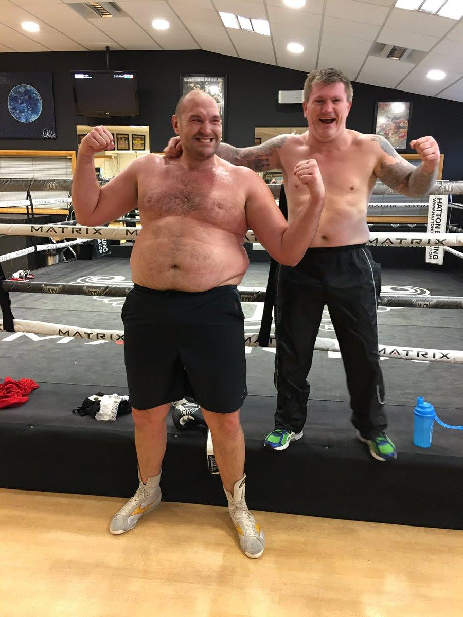 This was Tyson Fury as he hovered around the 25st mark - but Ricky Hatton soon helped him get back into shape