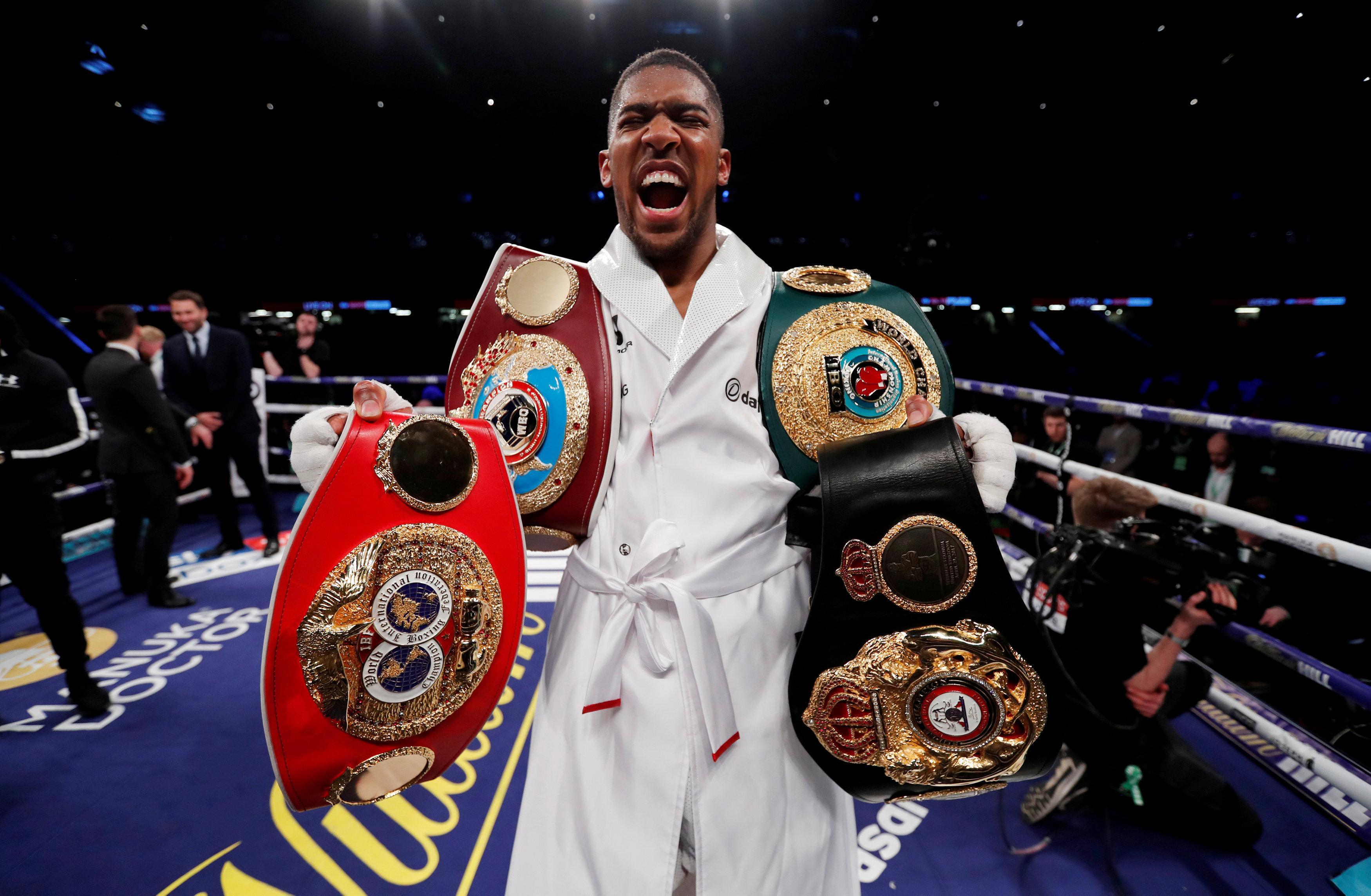 Anthony Joshua is the current WBA, WBO, IBF and IBO heavyweight champion