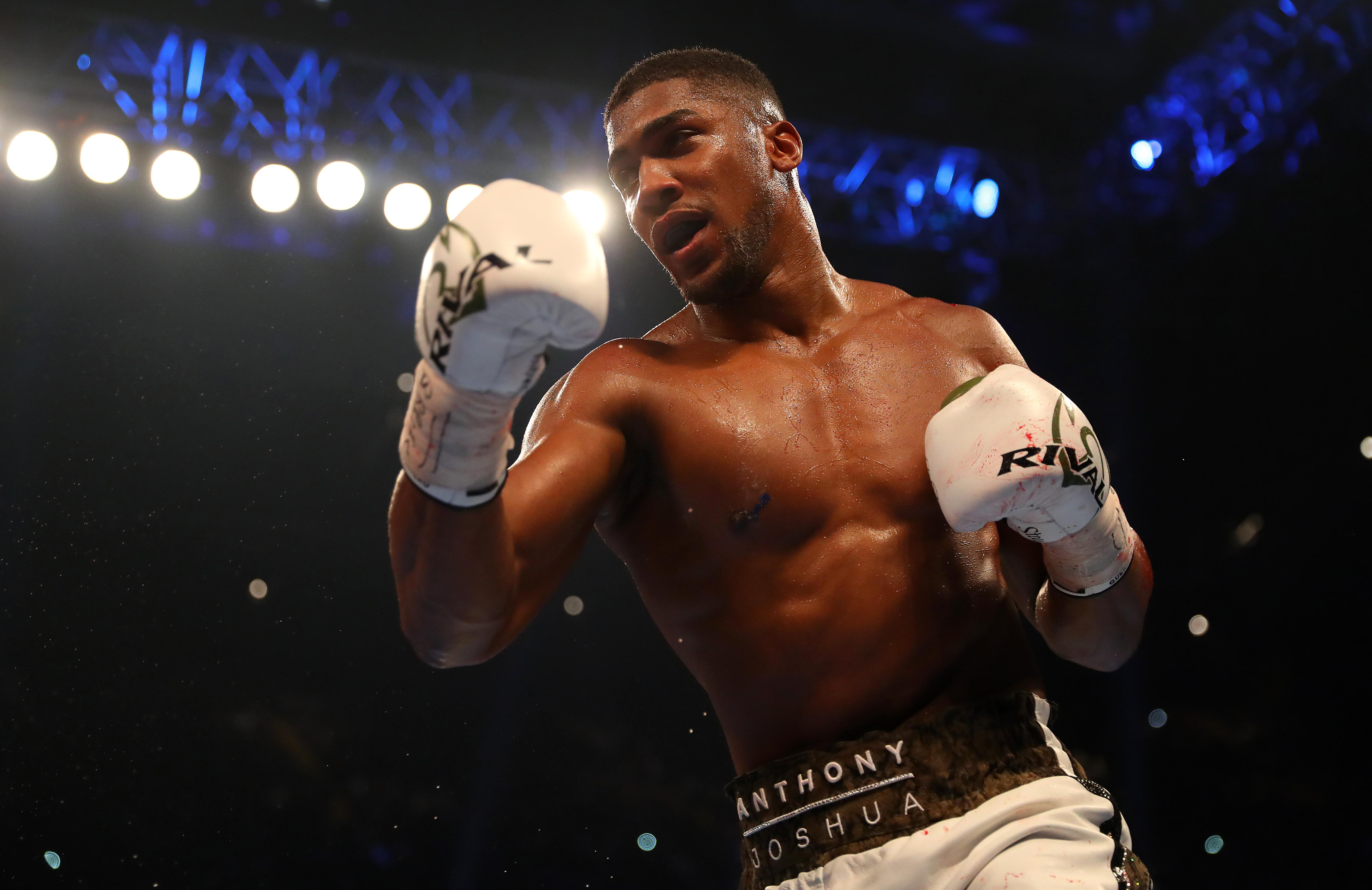 Joshua's last outing in the ring was in April when he beat Joseph Parker to win the WBO title