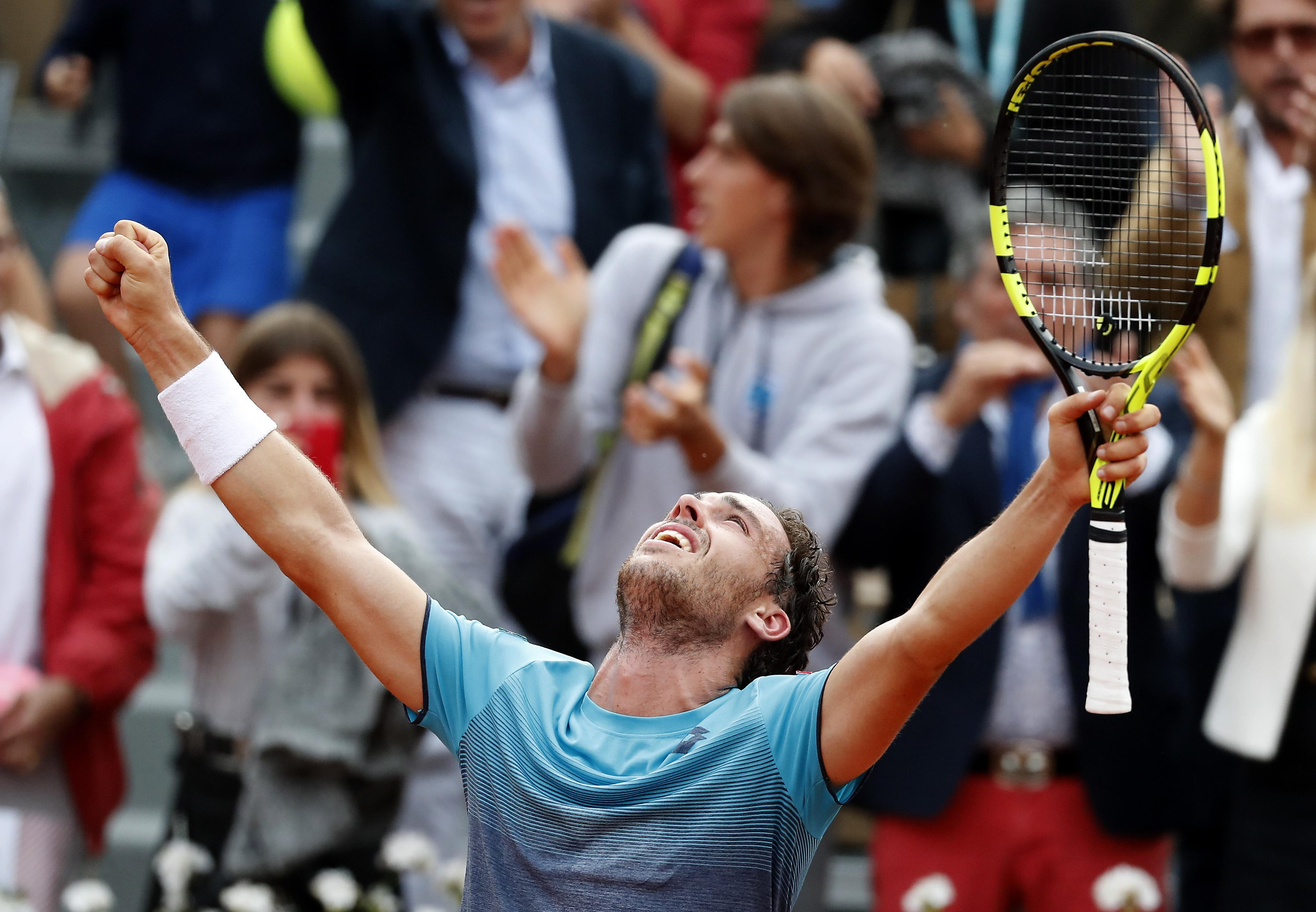Cecchinato is the first Italian to reach a Grand Slam semi final in 40 years